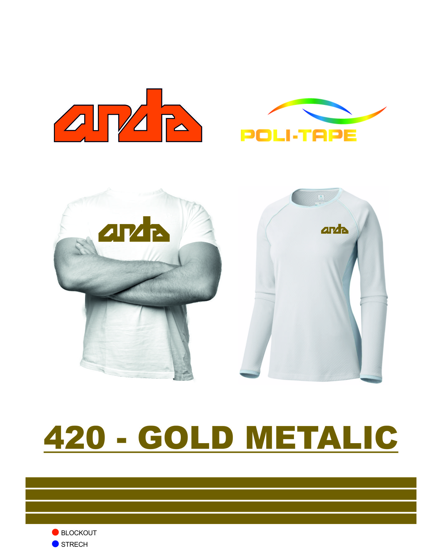 Poli-Flex Premium-Altın Metalik-420 1