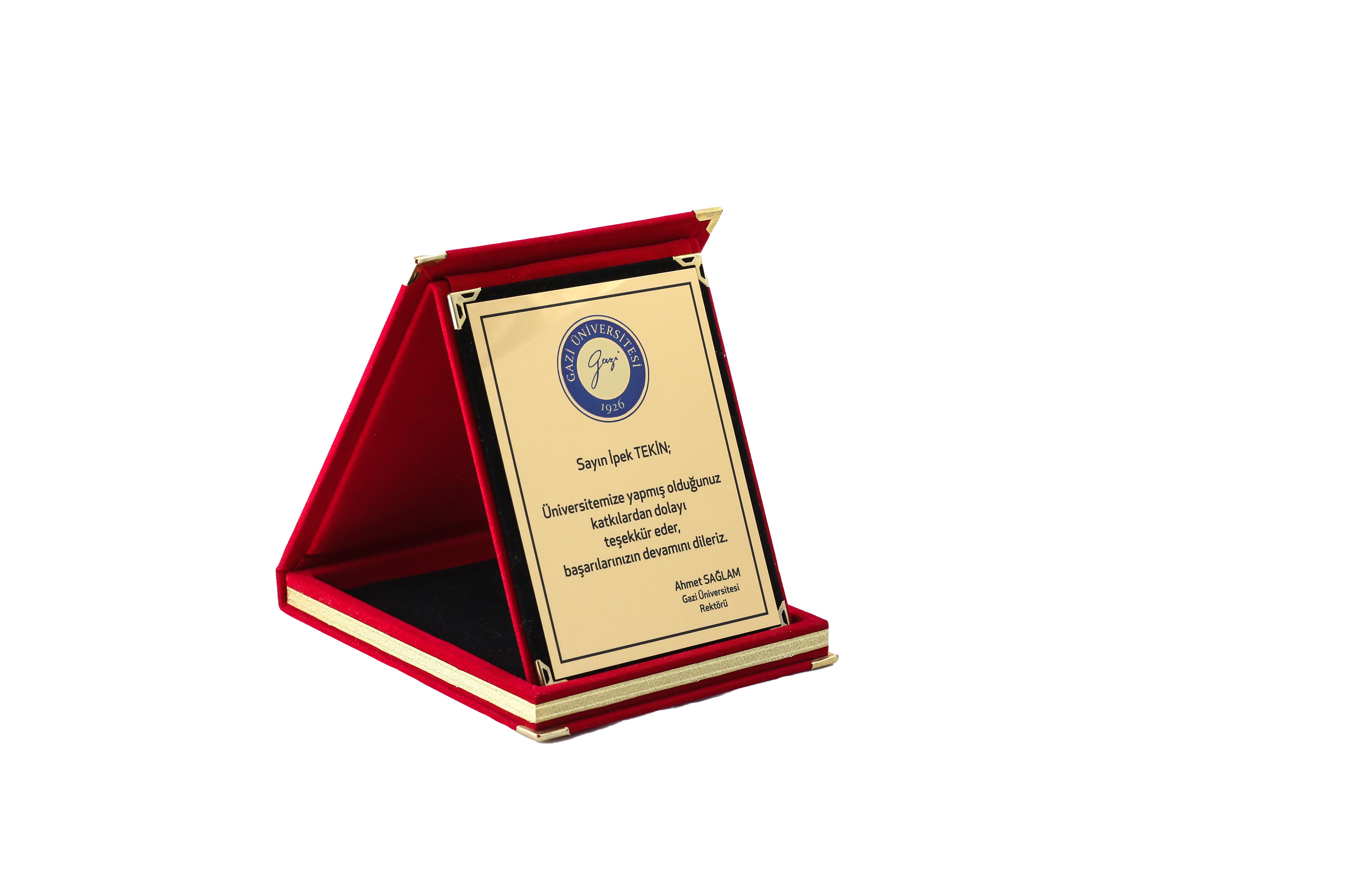 Kırmızı Albüm Plaket Kutusu-9cmx12cm 1