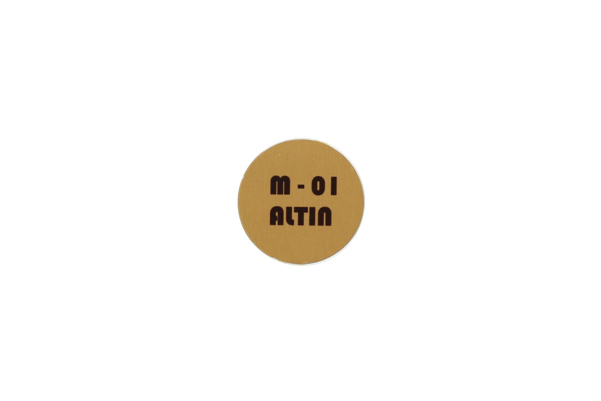 Metal Levha M-01 Fırçalı Altın 1