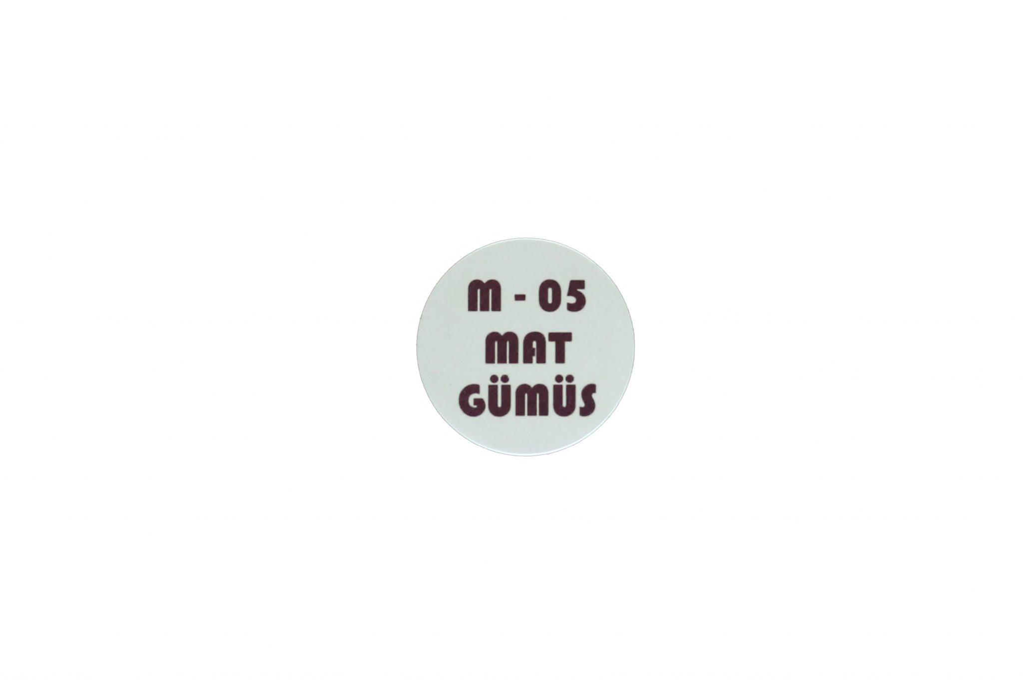 Mat Gümüş Metal Göbek-4cm 1