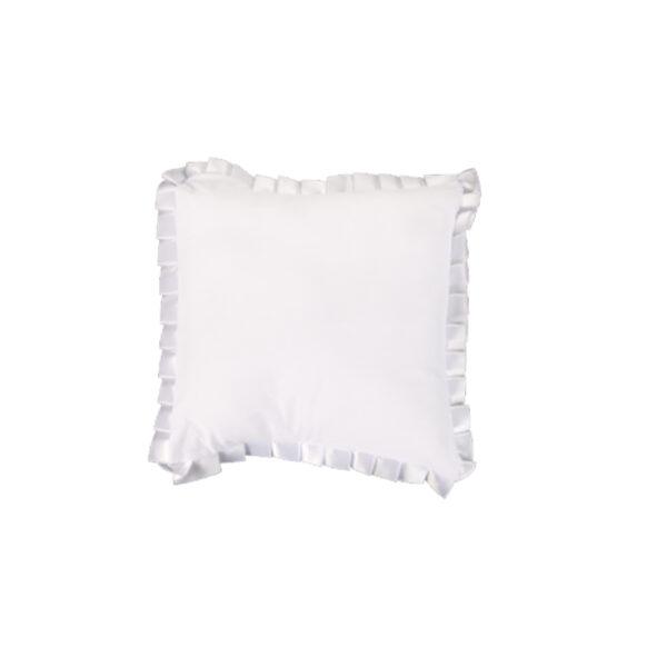 Kare Yastık-Beyaz Fırfırlı 1