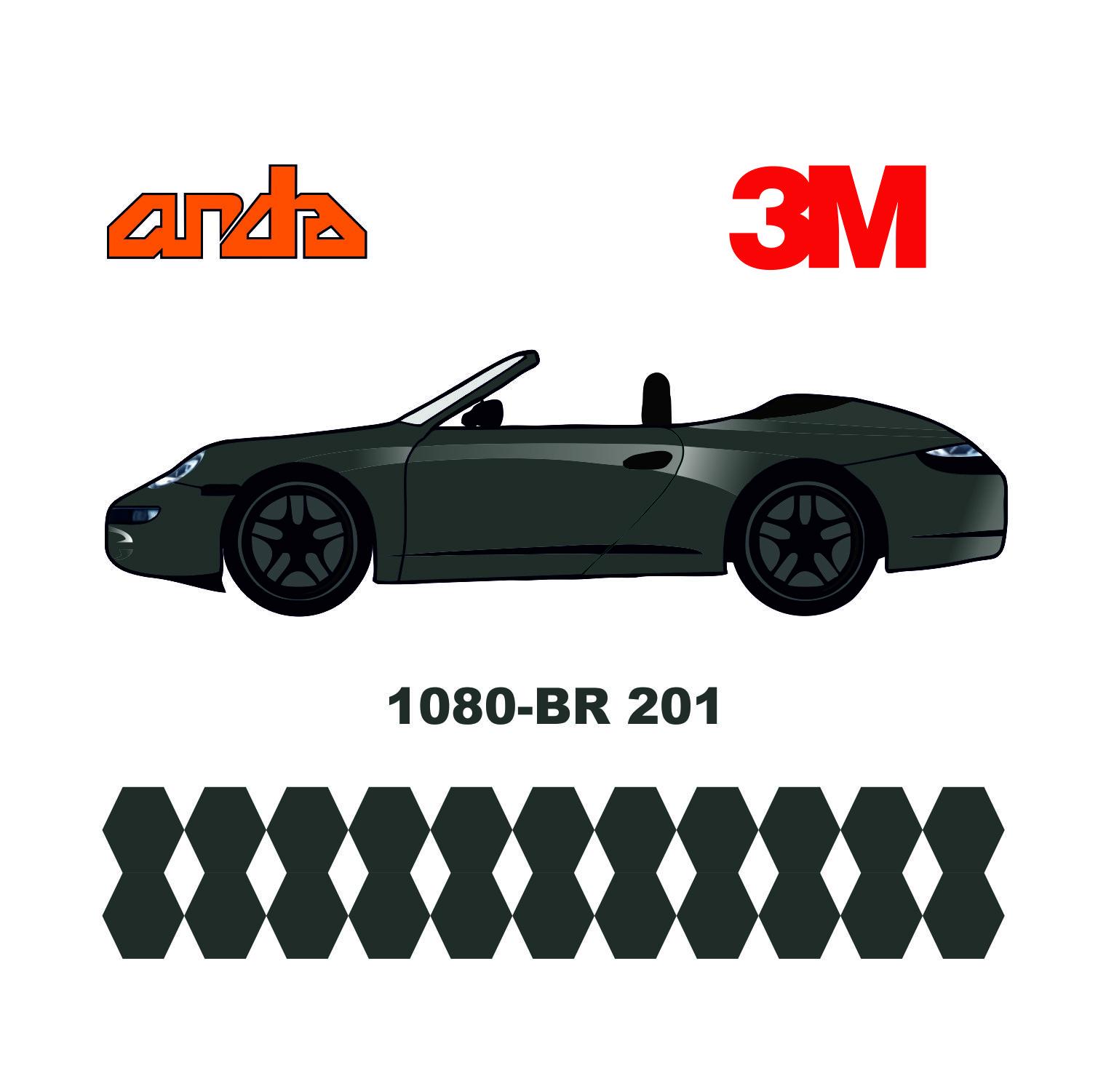 3M 1080-BR201 Fırçalanmış Çelik 1