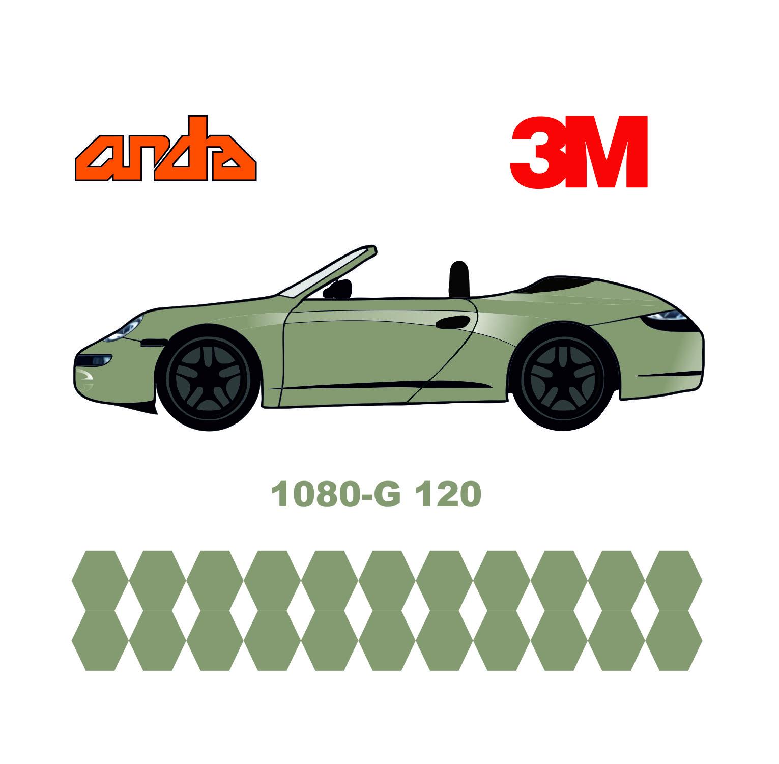 3M 1080-G120 Parlak Beyaz Alüminyum 1