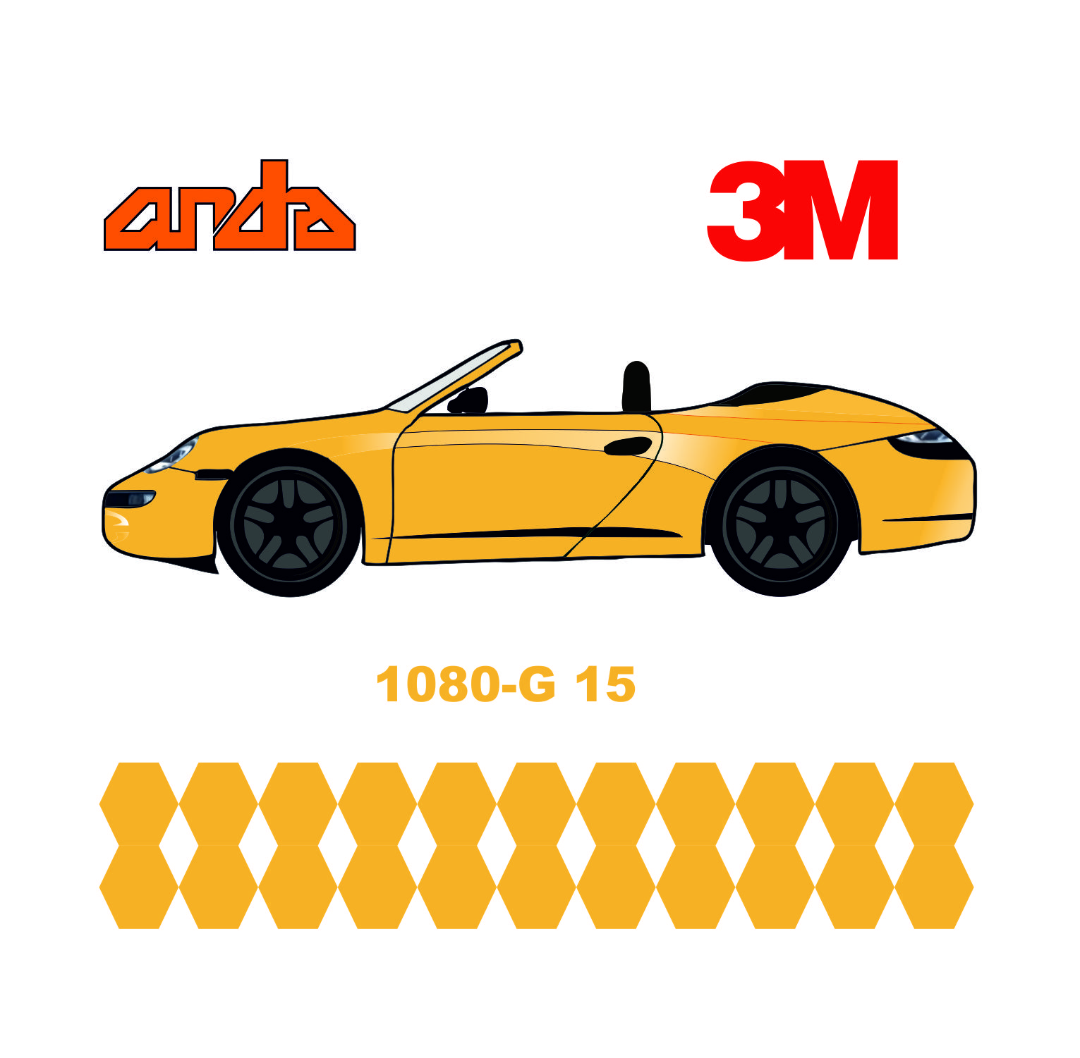 3M 1080-G15 Parlak Sarı 1