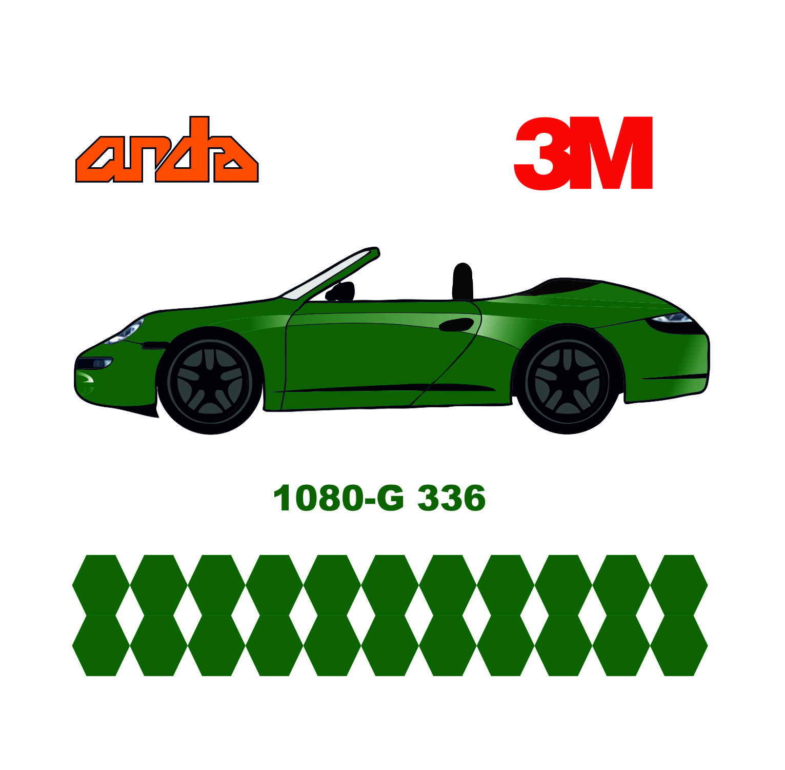 3M 1080-G336 Parlak Metalik Yeşil 1