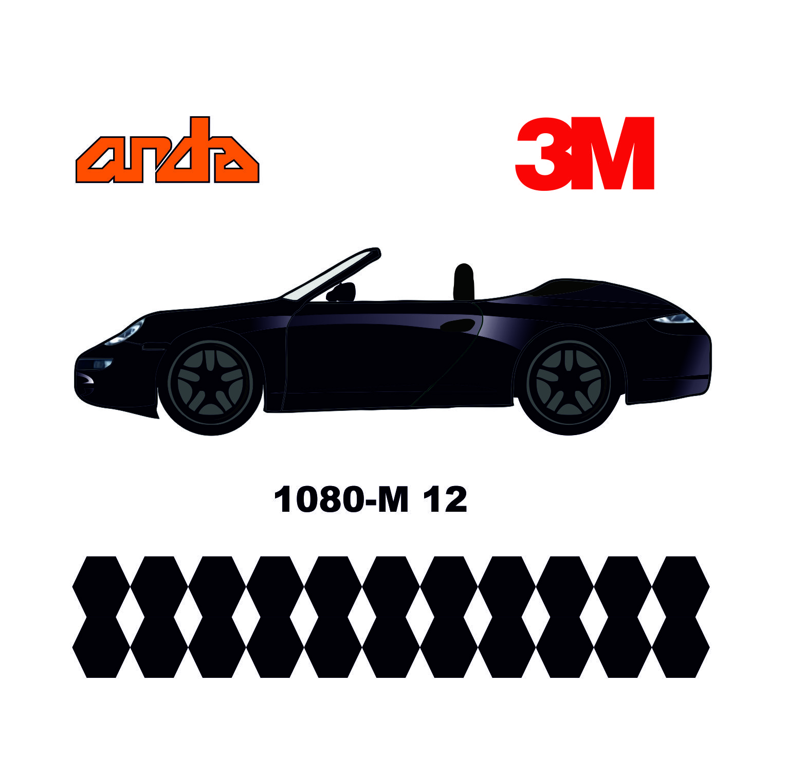 3M 1080-M12 Mat Siyah 1