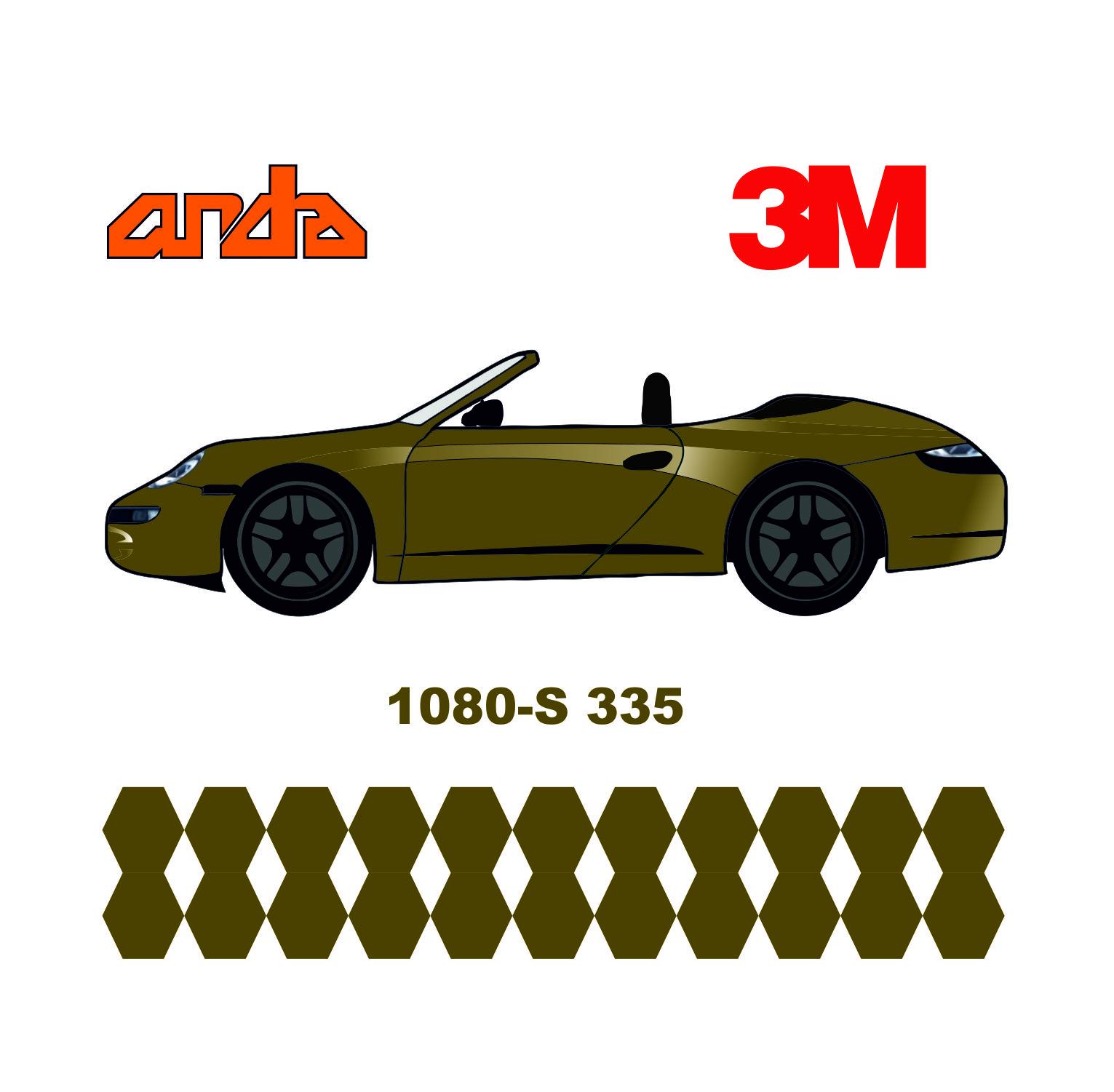 3M 1080-S335 Satin Bitter Yellow 1