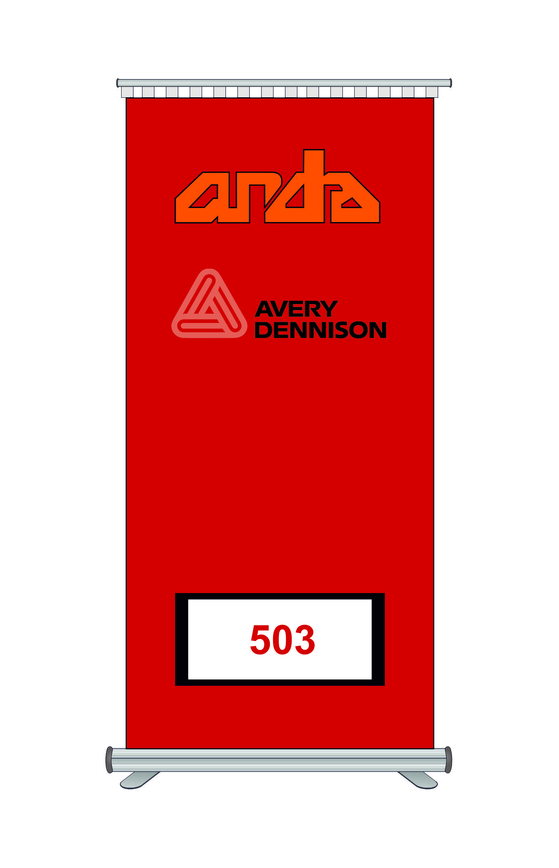 Avery Dennison 503 Kesim Folyosu-Geranium Red 1