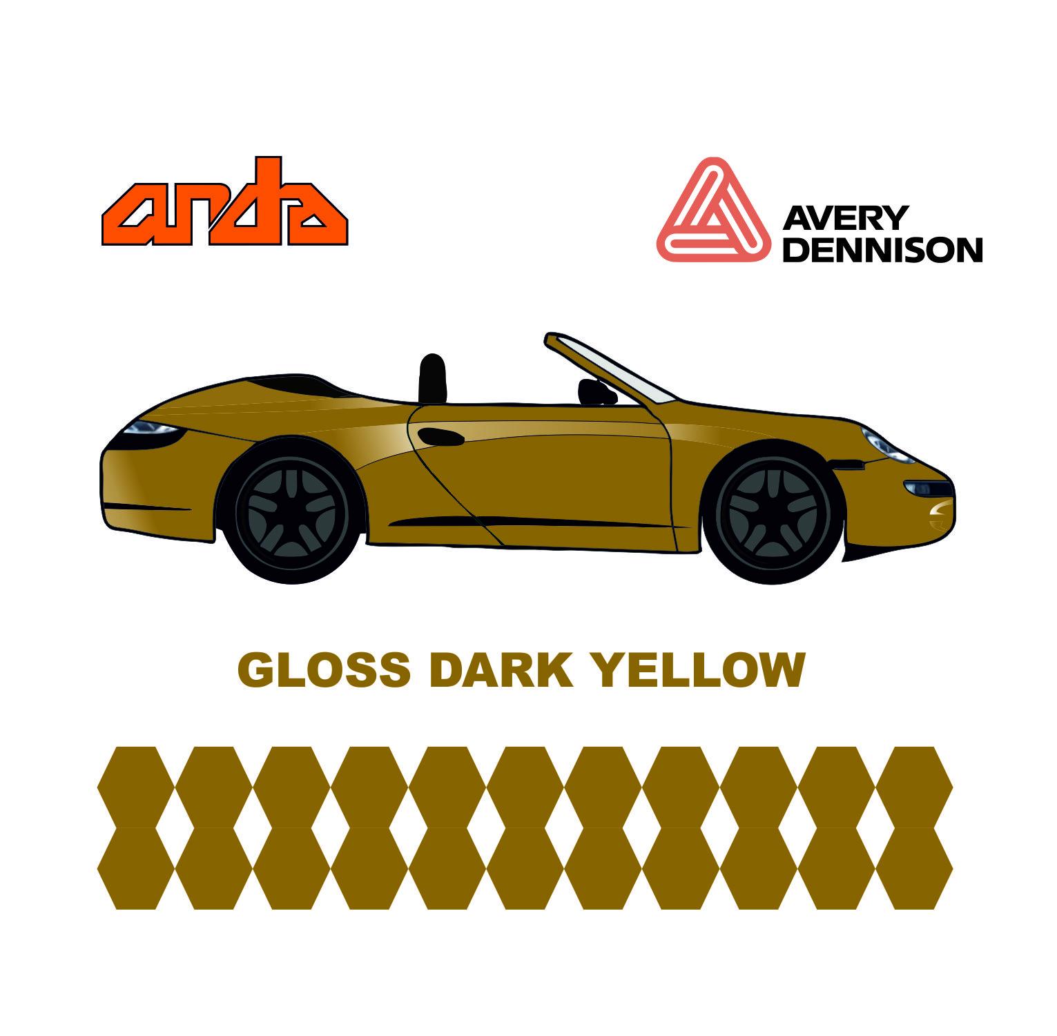 Avery Dennison- SWF Gloss Dark Yellow 1