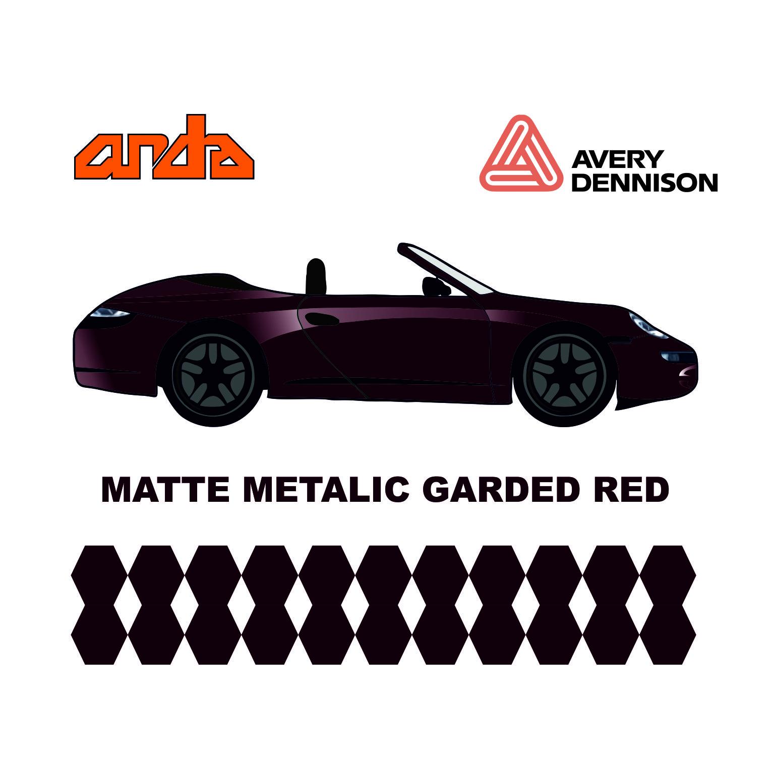 Avery Dennison-SWF Matt Metallic Garnet Red 1
