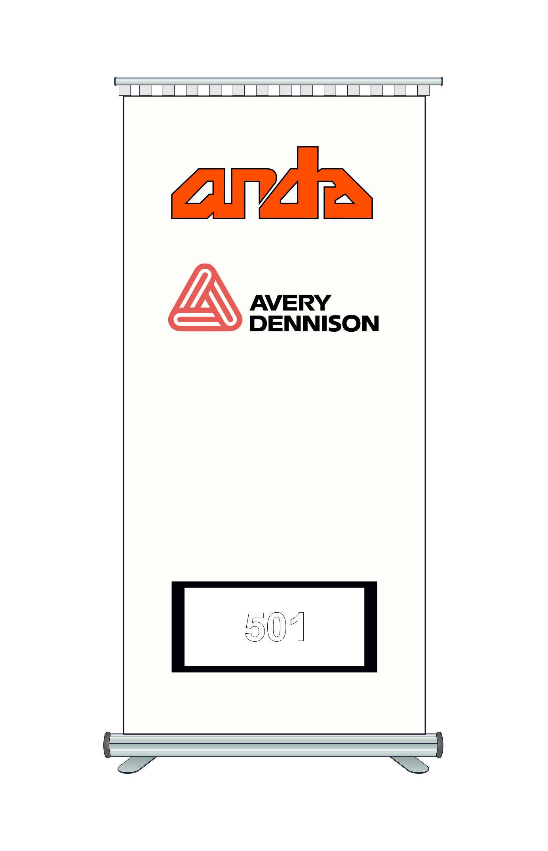 Avery Dennison 501 Kesim Folyosu-Matt White 1