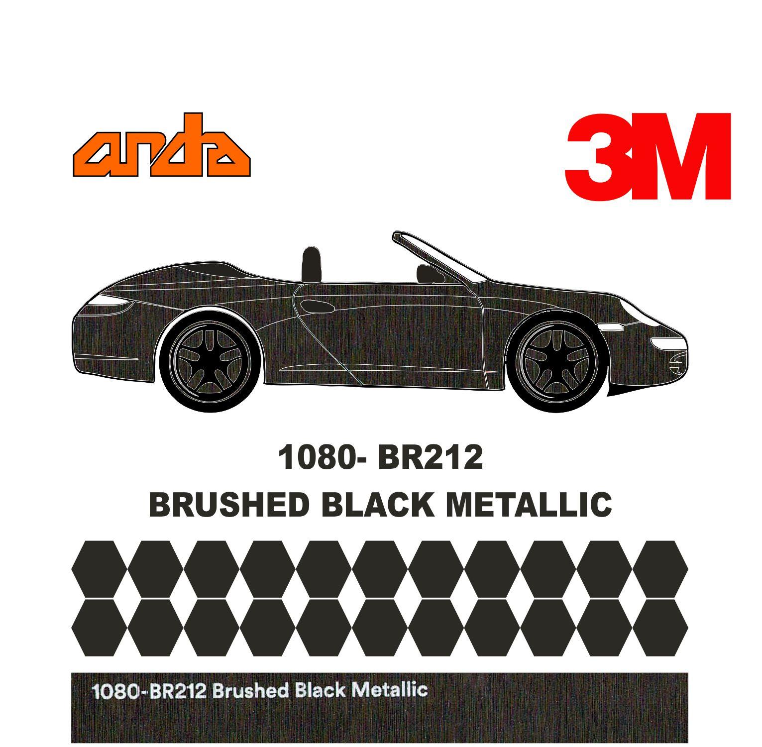 3M 1080-BR212 Fırçalanmış Siyah 1