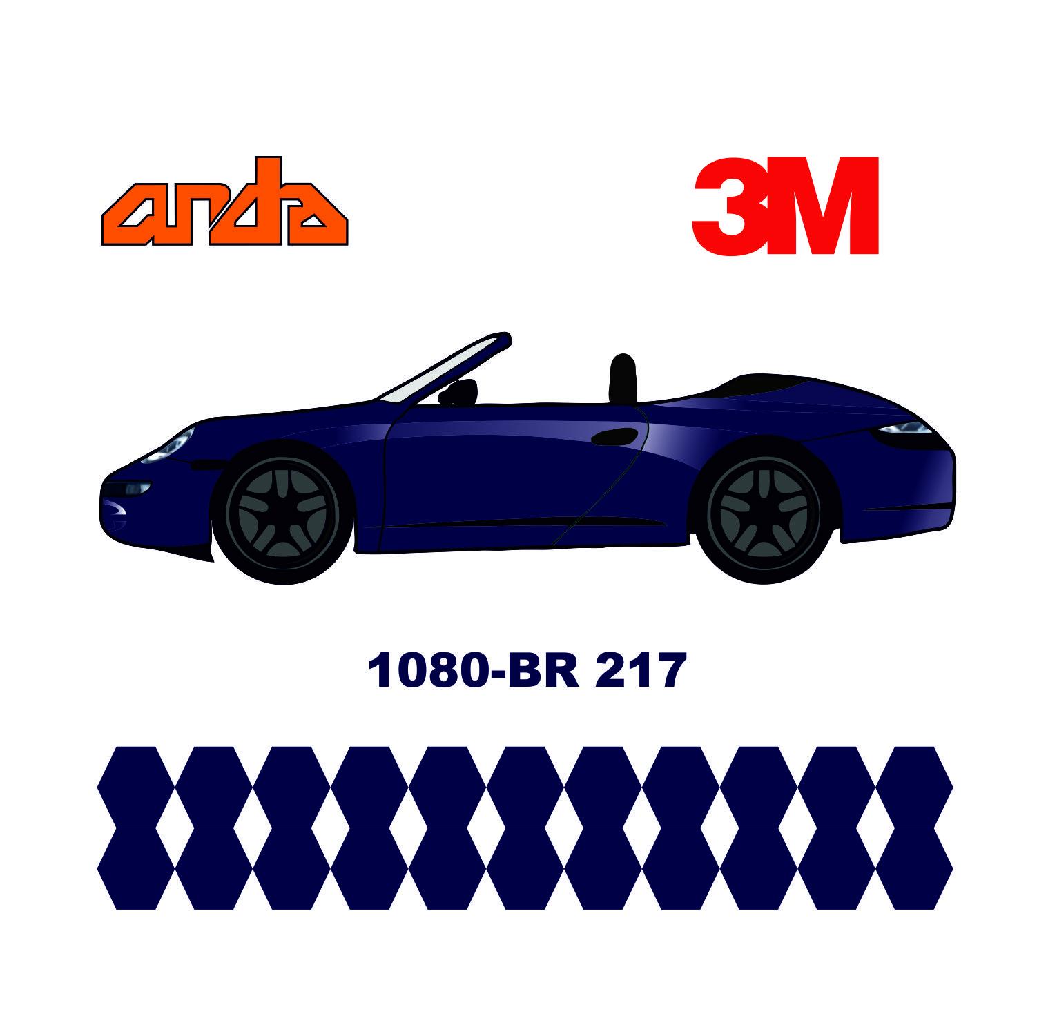 3M 1080-BR217 Fırçalanmış Çelik Mavi 1