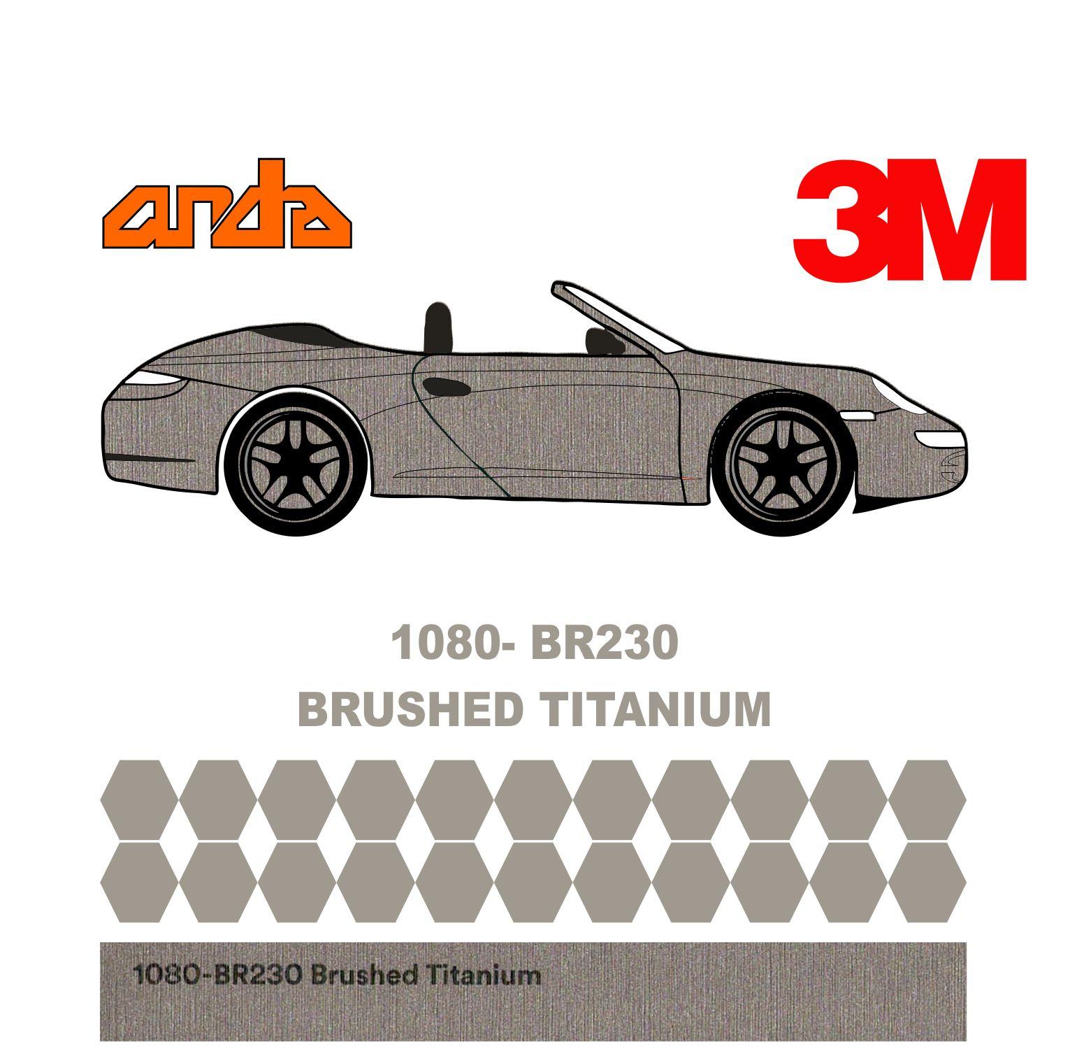 3M 1080-BR230 Fırçalanmış Titanyum 1