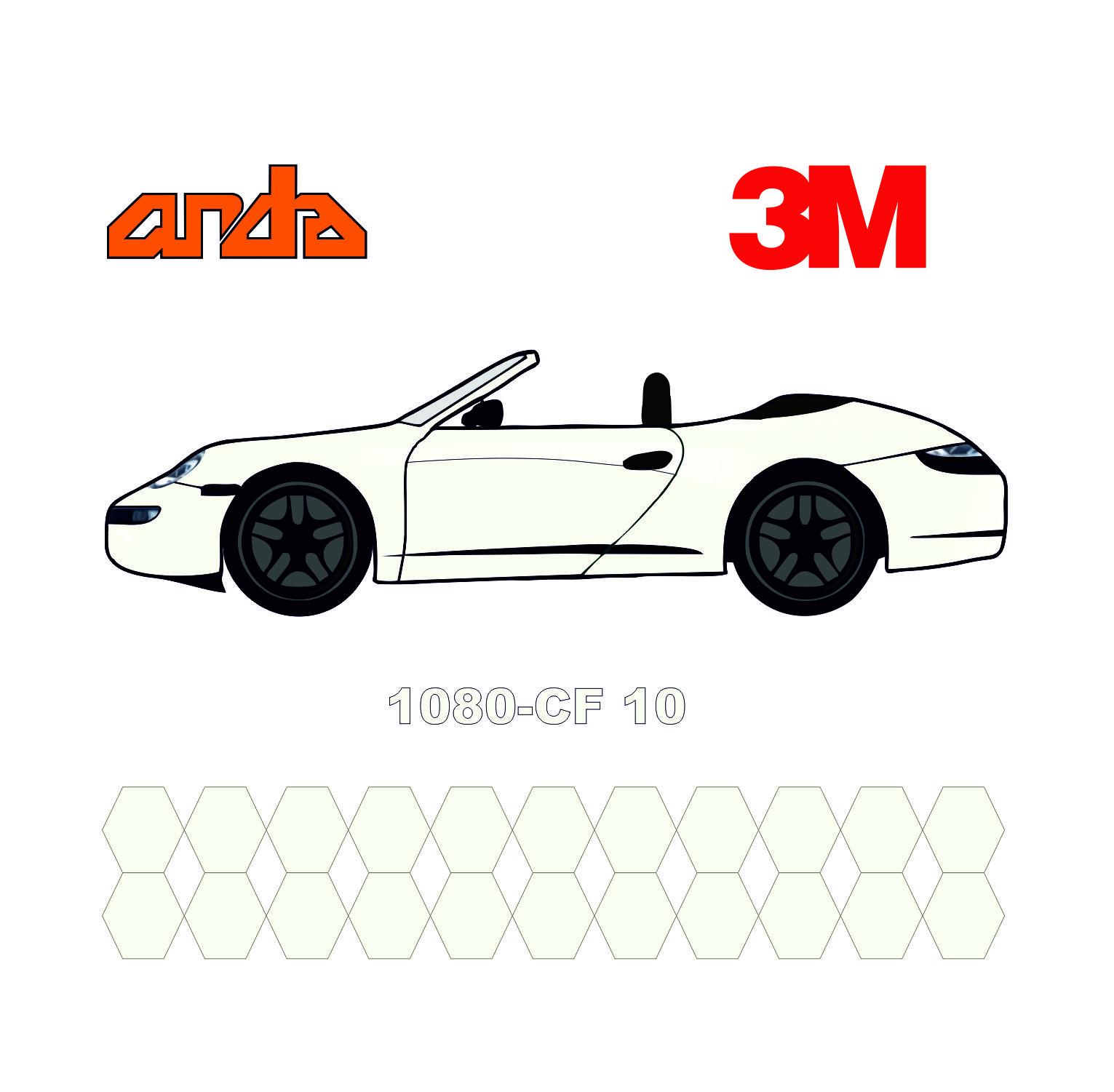 3M 1080-CF10 Beyaz Karbon 1