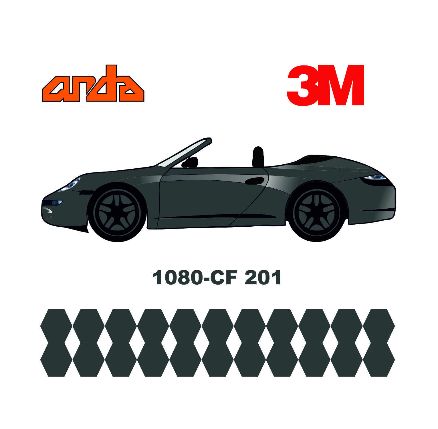 3M 1080-CF201 Antrasit Karbon 1