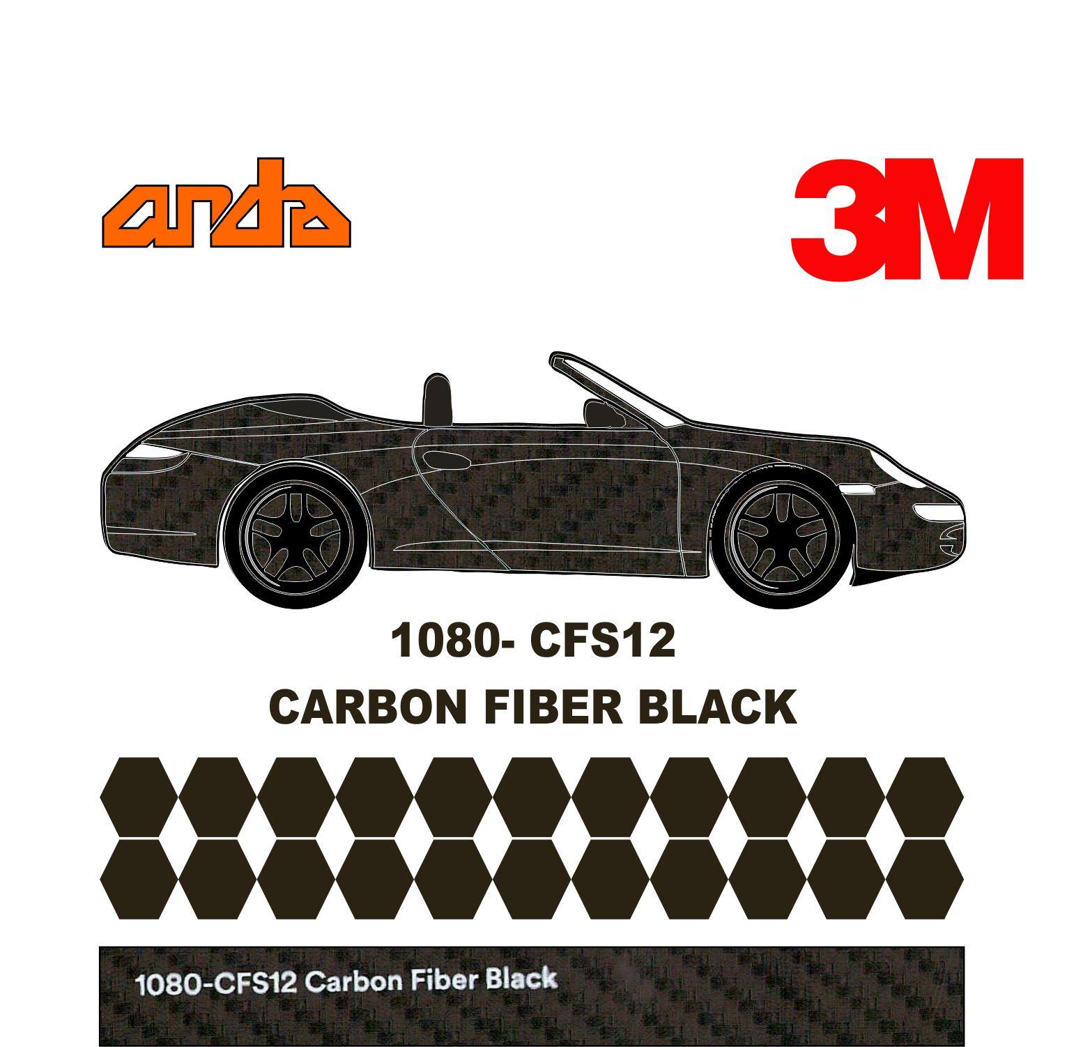 3M 1080-CF12 Siyah Karbon 1