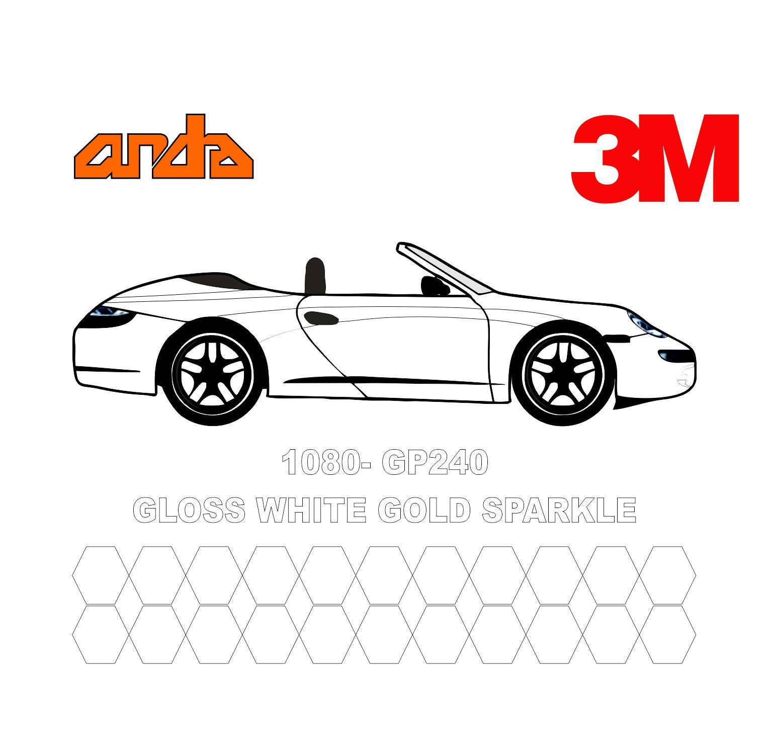 3M 1080-GP240 Altın Işıltılı Beyaz 1