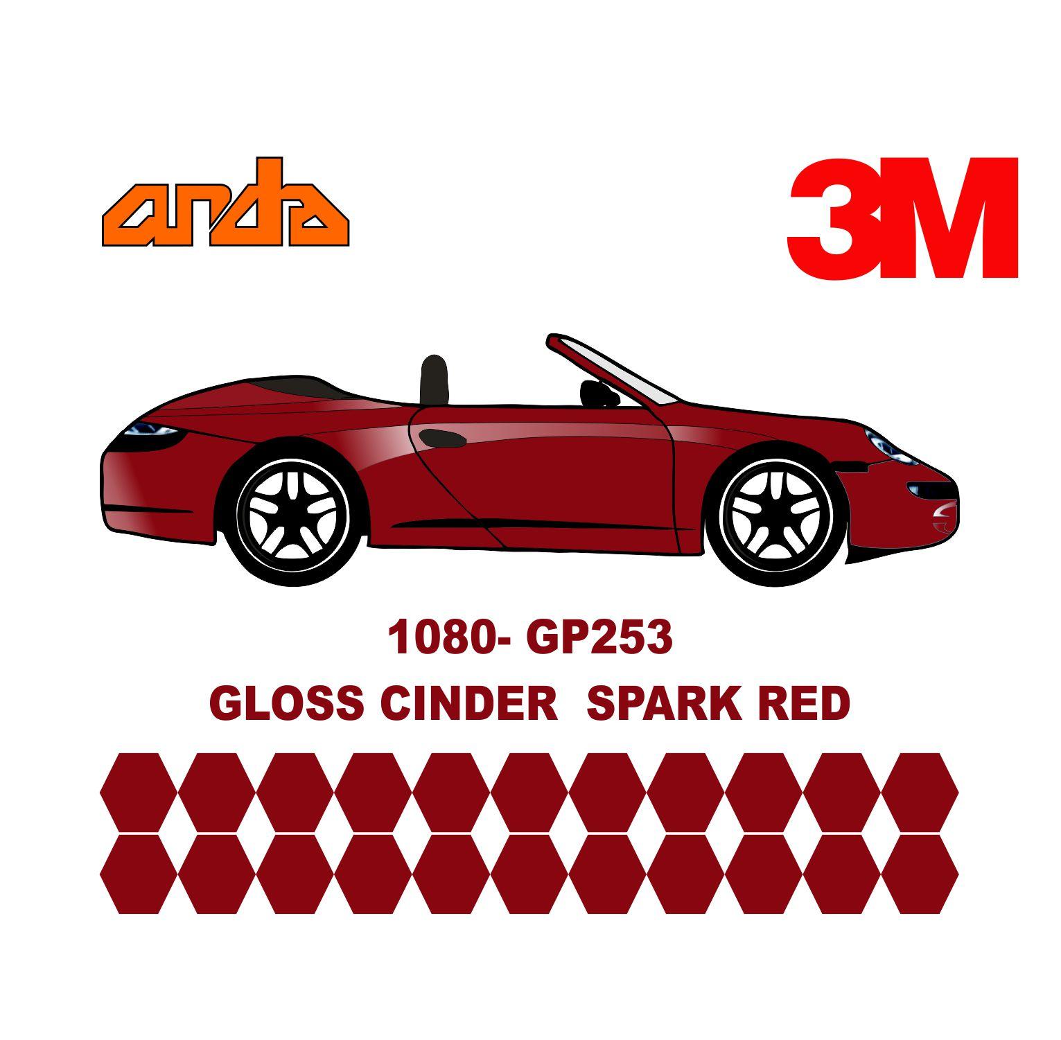 3M 1080-GP253 Parlak Kor Kırmızı 1