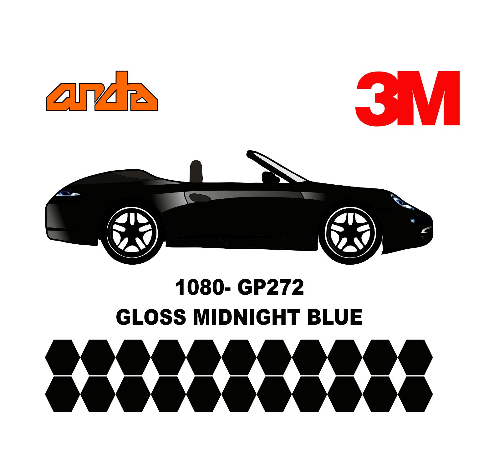3M 1080-GP272 Parlak Gece Mavi 1