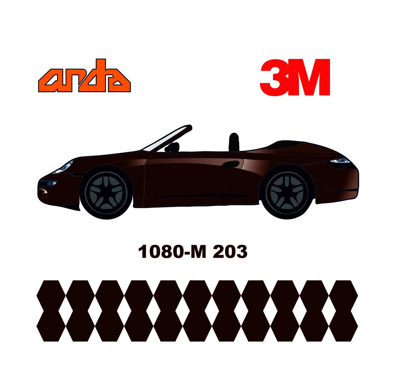 3M 1080-M203 Mat Metalik Kırmızı 1