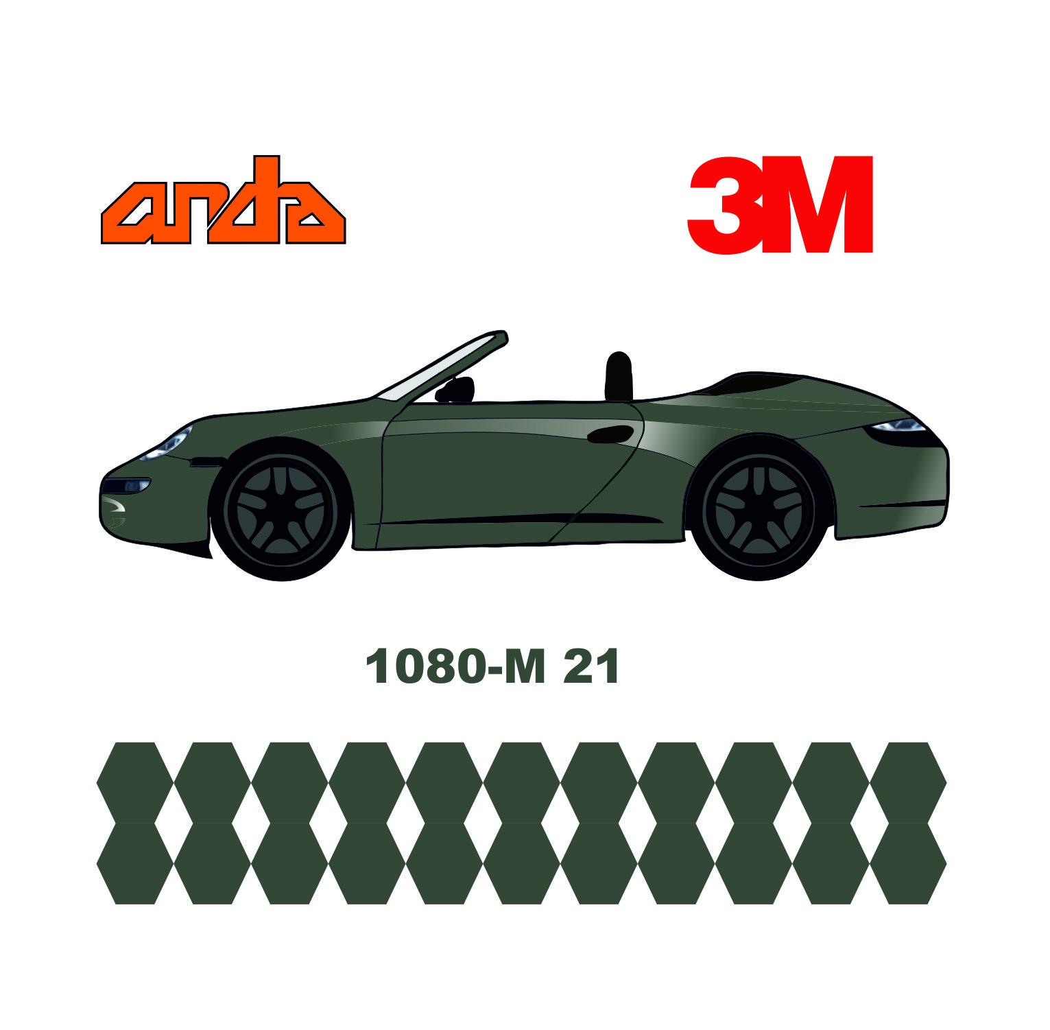 3M 1080-M21 Mat Gümüş 1