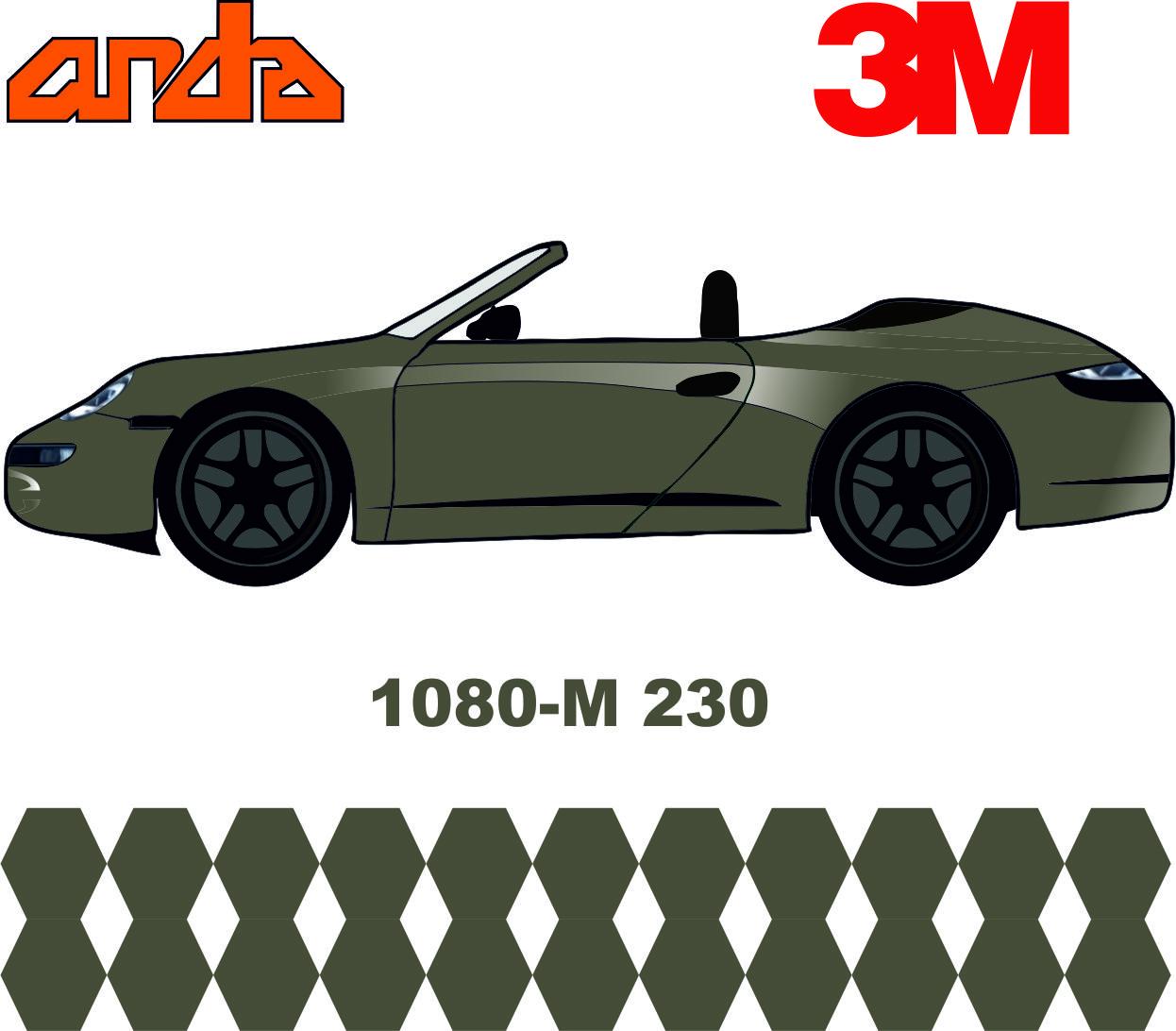 3M 1080-M230 Mat Gri Alüminyum 1