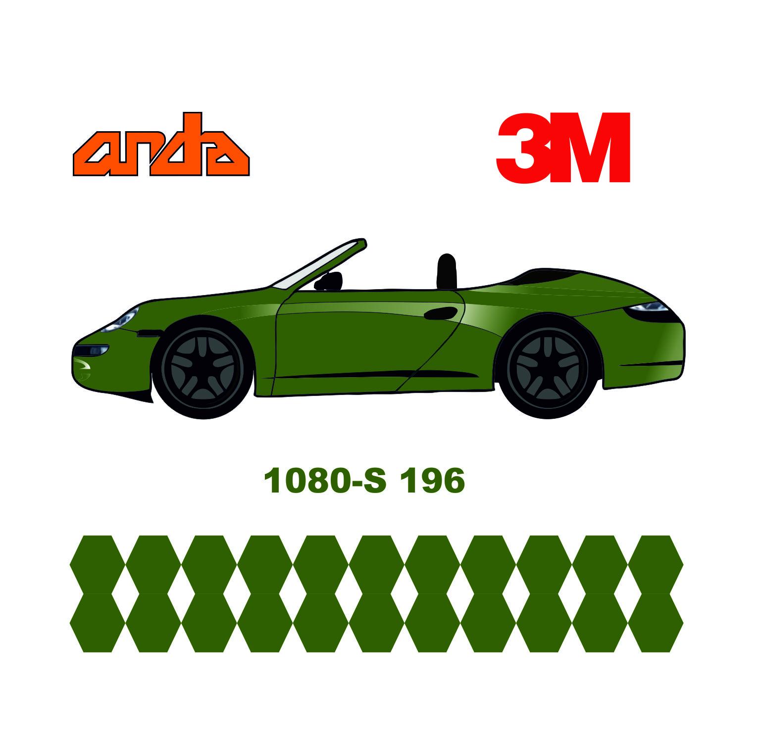 3M 1080-S196 Satin Elma Yeşili 1