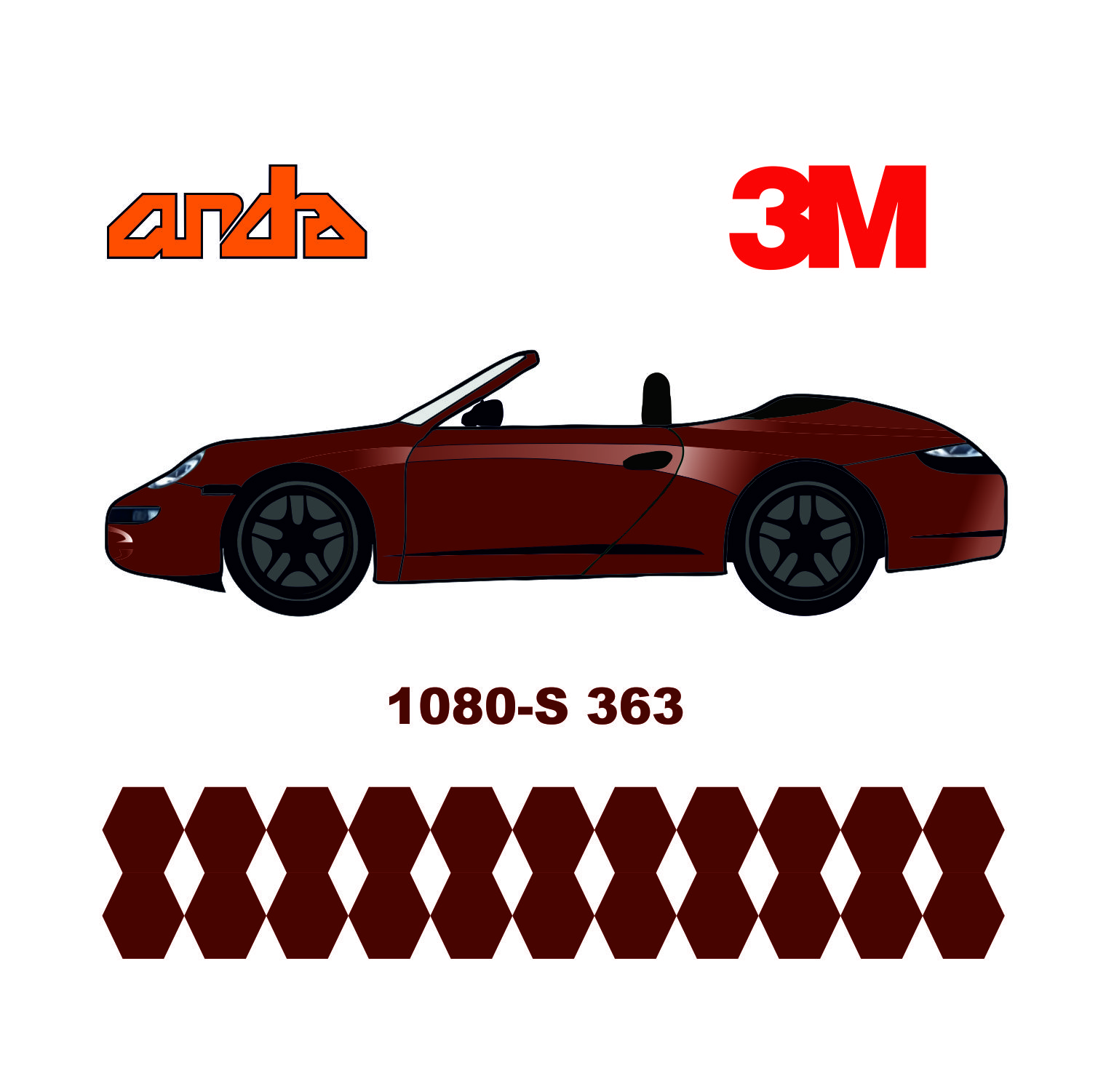 3M 1080-S363 Satin Kor Kırmızı 1