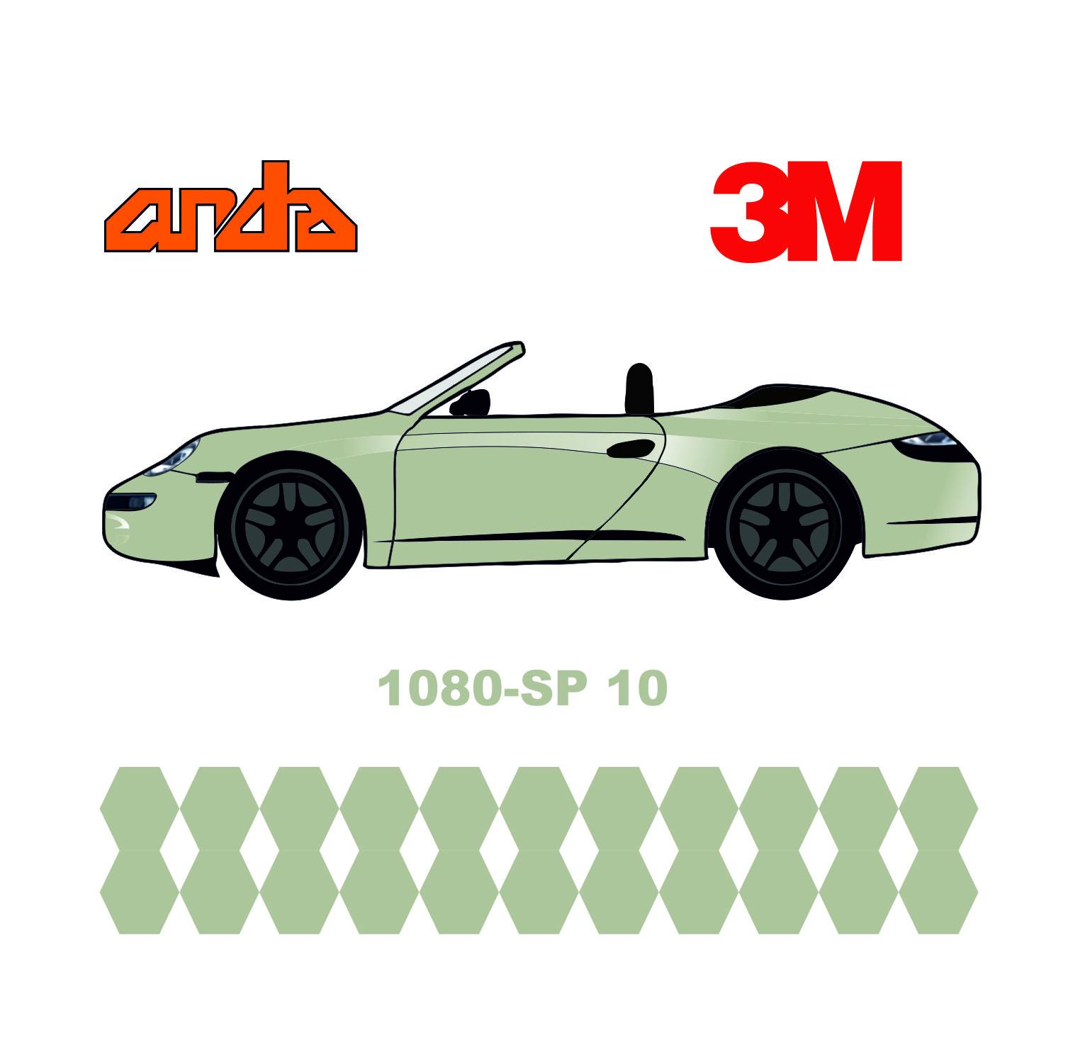 3M 1080-SP10 Satin İnci Beyazı 1
