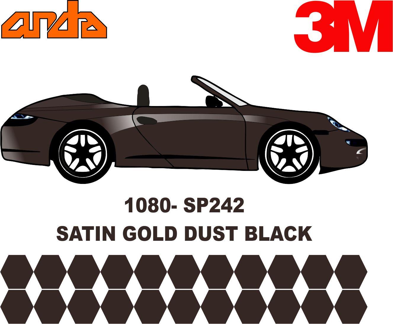 3M 1080-SP242 Satin Gold Dust Black 1