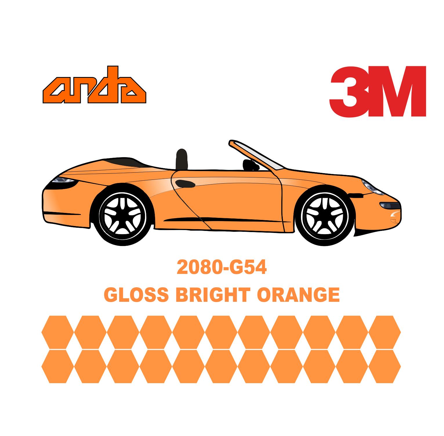 3M 2080-G54 Bright Orange 1