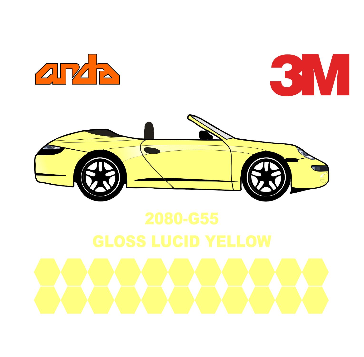 3M 2080-G55 Lucid Yellow 1