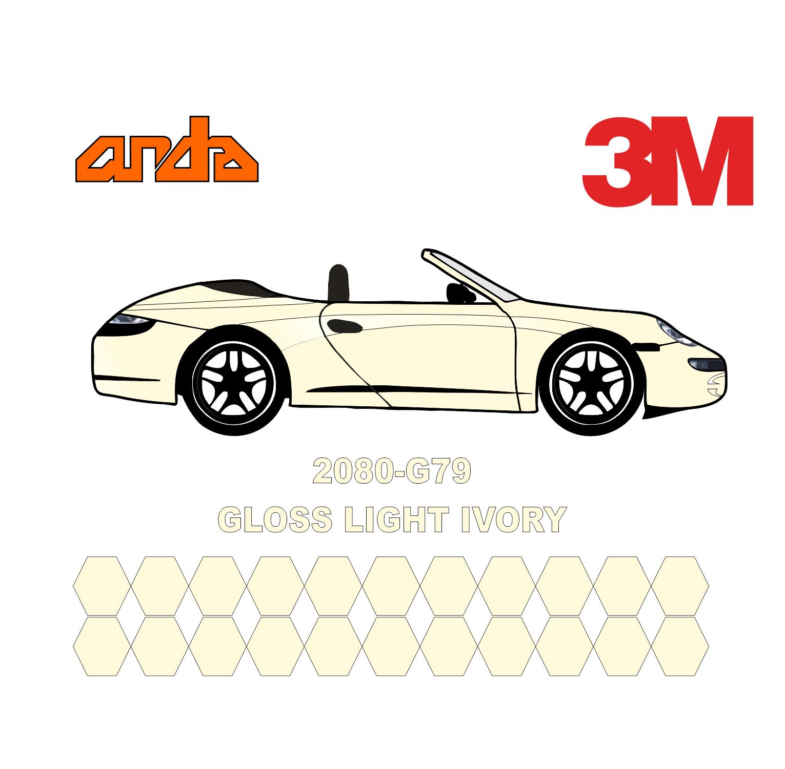 3M 2080-G79 Light Ivory 1