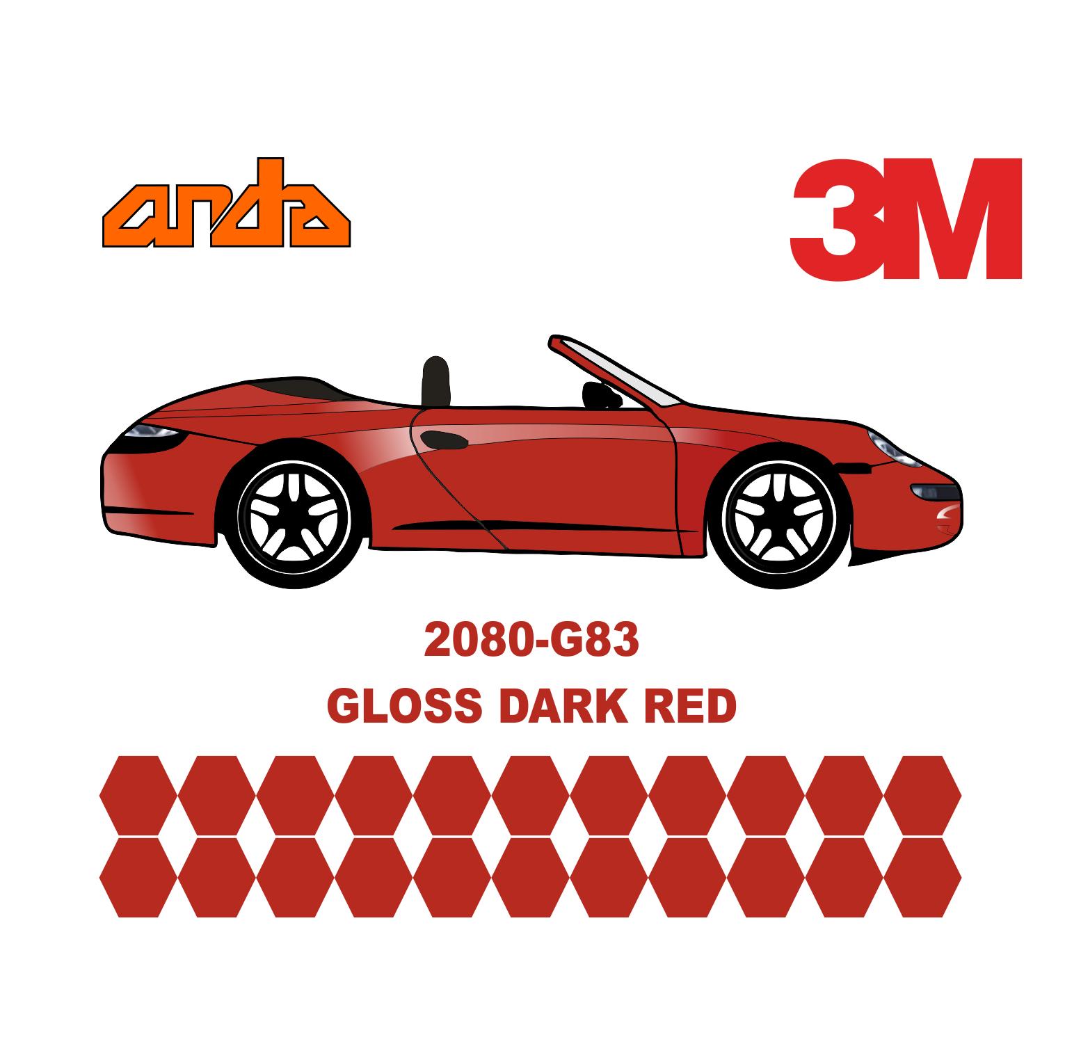3M 2080-G212 Dark Red 1