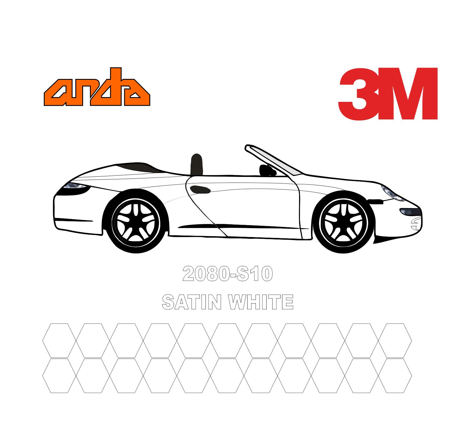 3M 2080-S10 White 1
