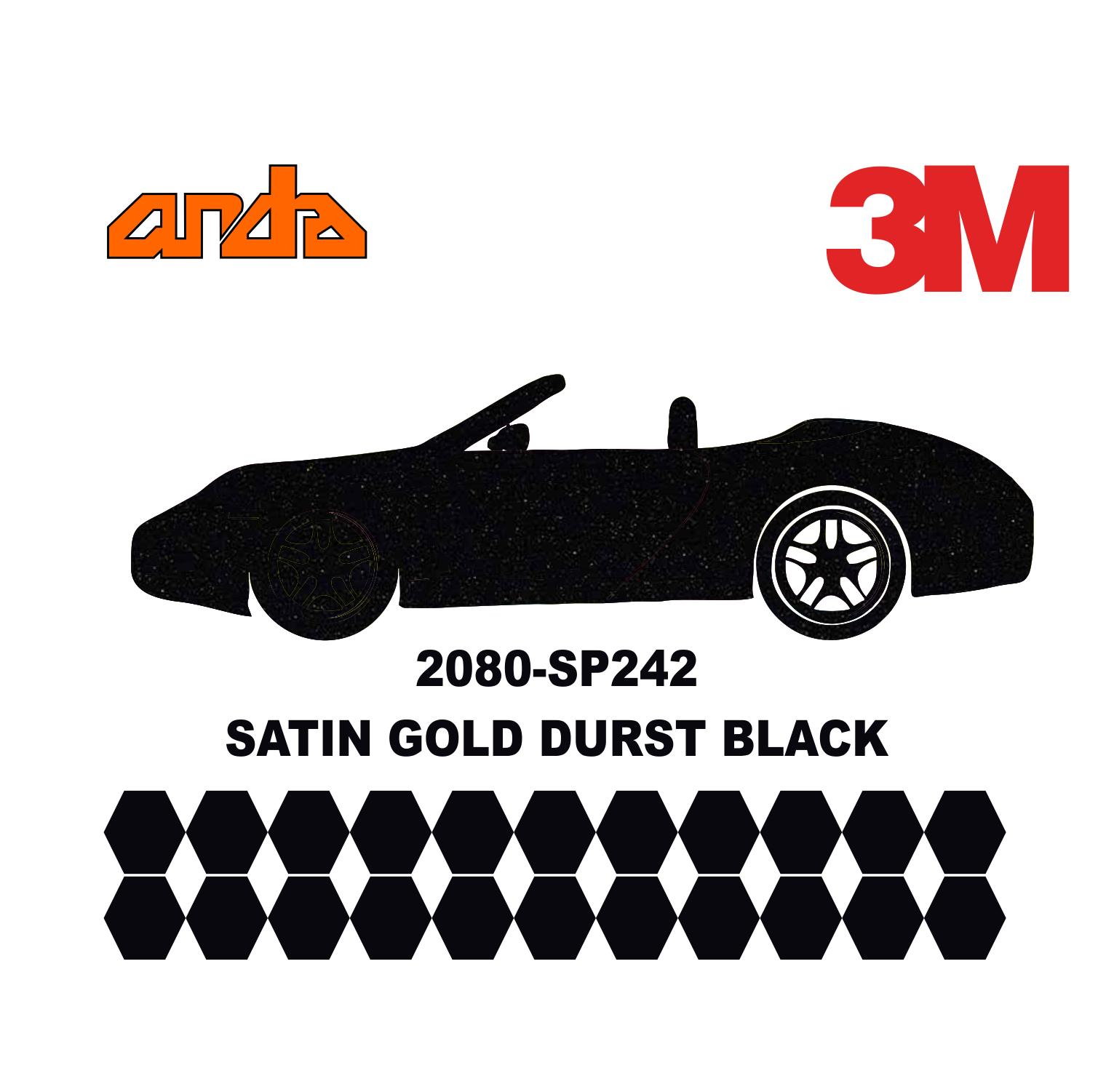 3M 2080-SP242 Gold Dust Black 1