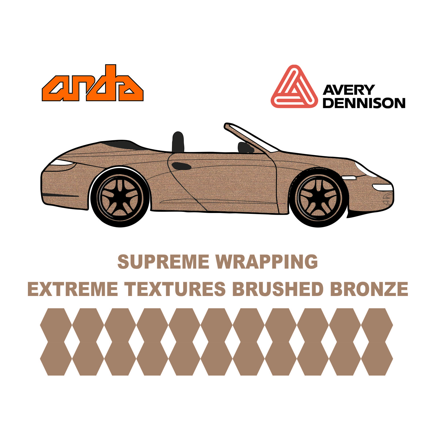Avery Dennison- SWF Extreme Textures Brushed Bronze 1