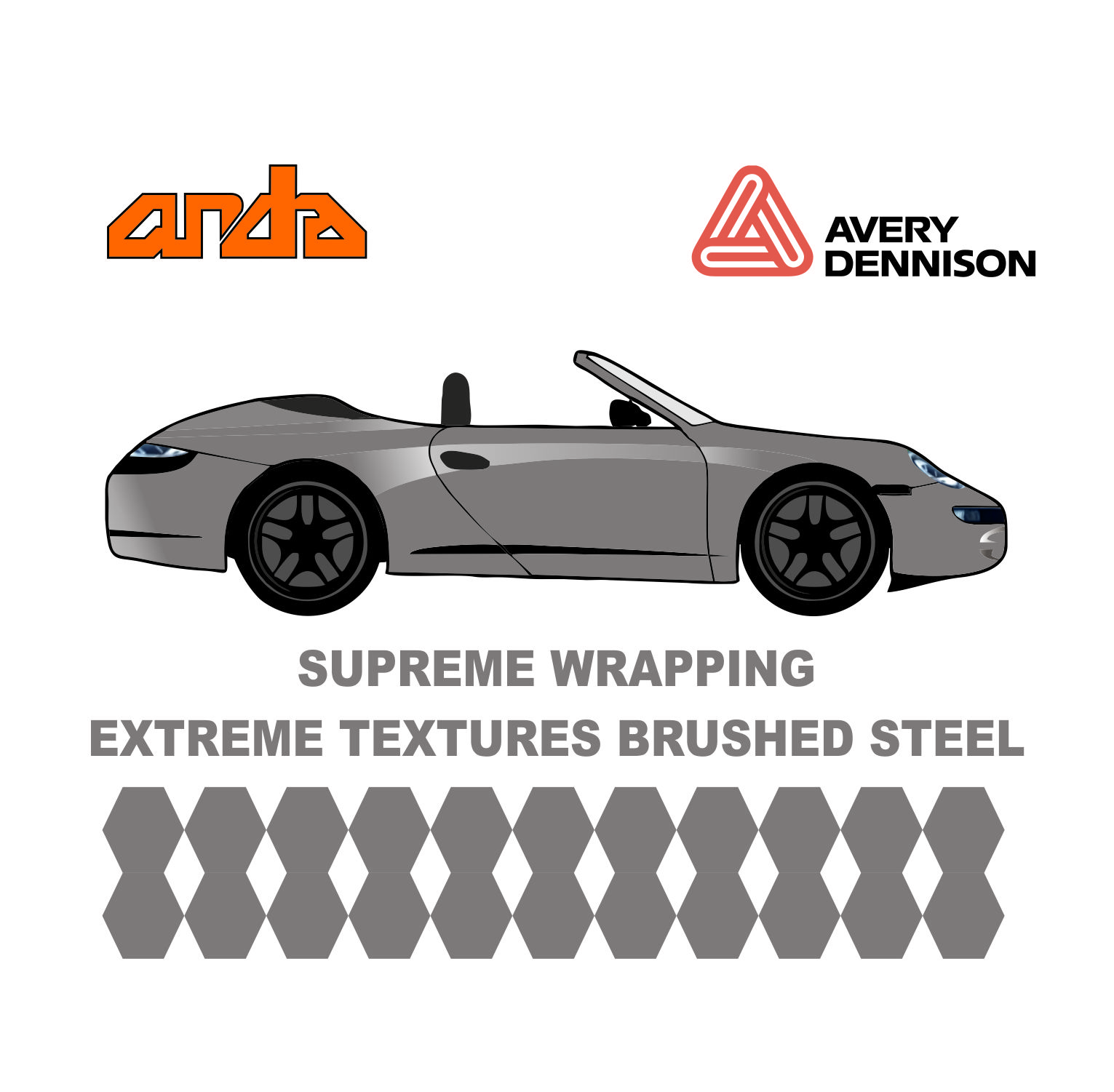 Avery Dennison- SWF Extreme Textures Brushed Steel 1
