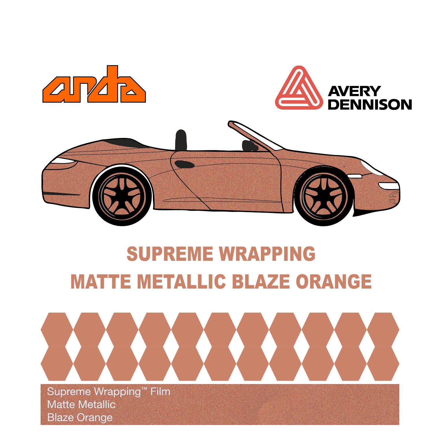 Avery Dennison- SWF Matte Metallic Blaze Orange 1
