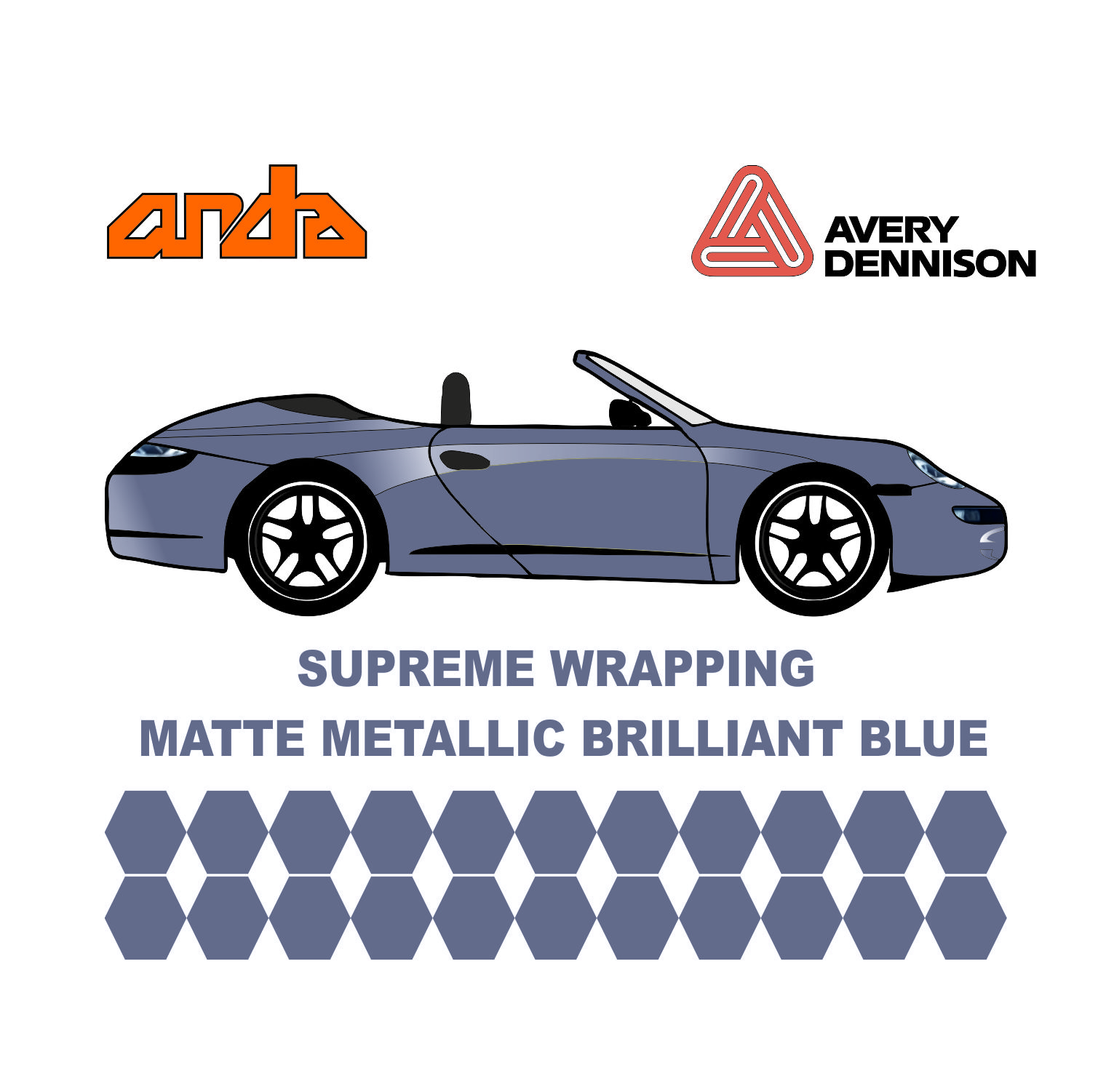 Avery Dennison- SWF Matte Metallic Brilliant Blue 1