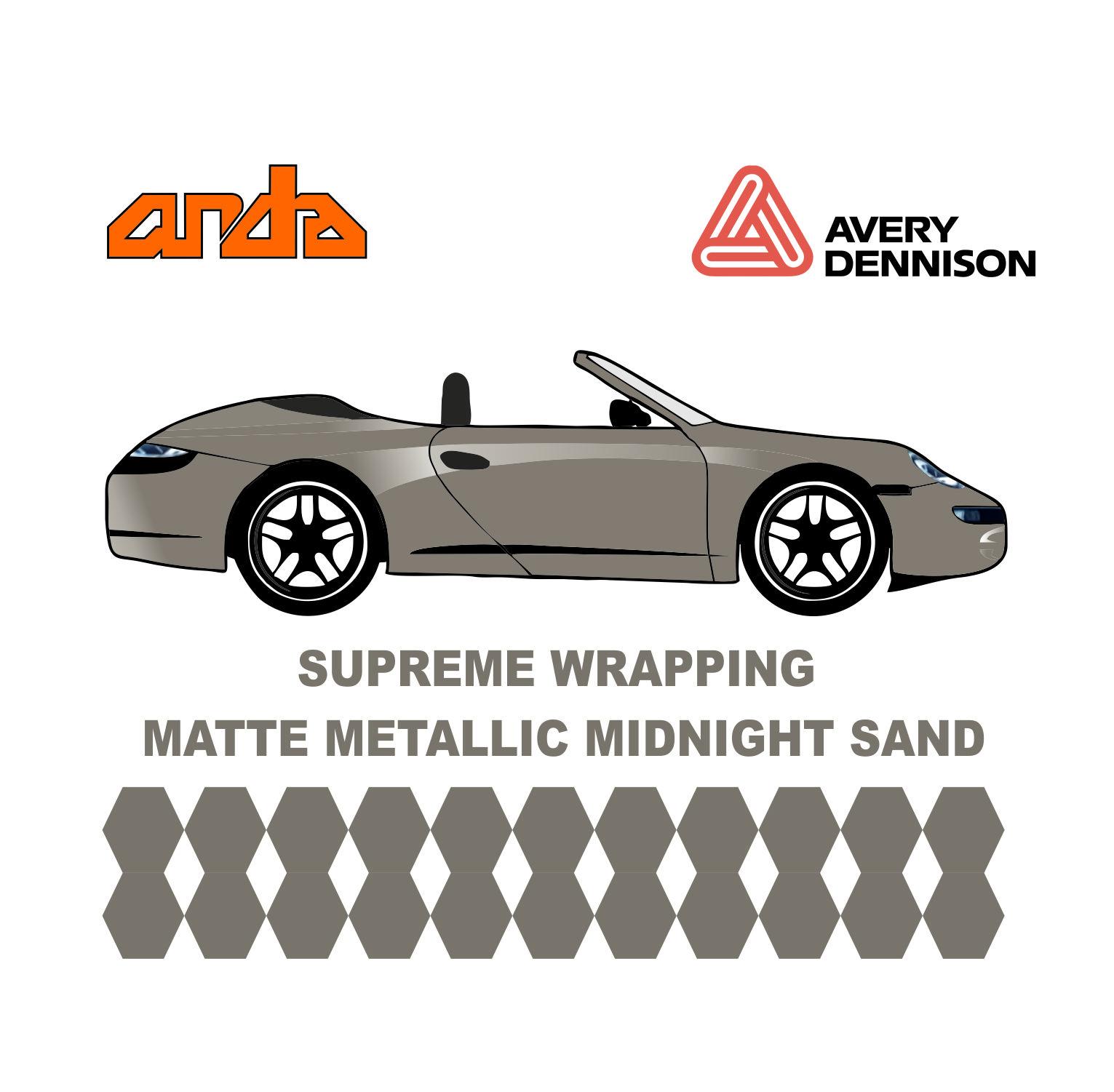 Avery Dennison- SWF Matte Metallic Midnight Sand 1