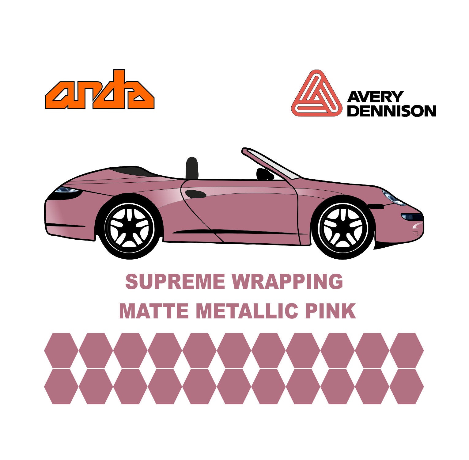 Avery Dennison- SWF Matte Metallic Pink 1