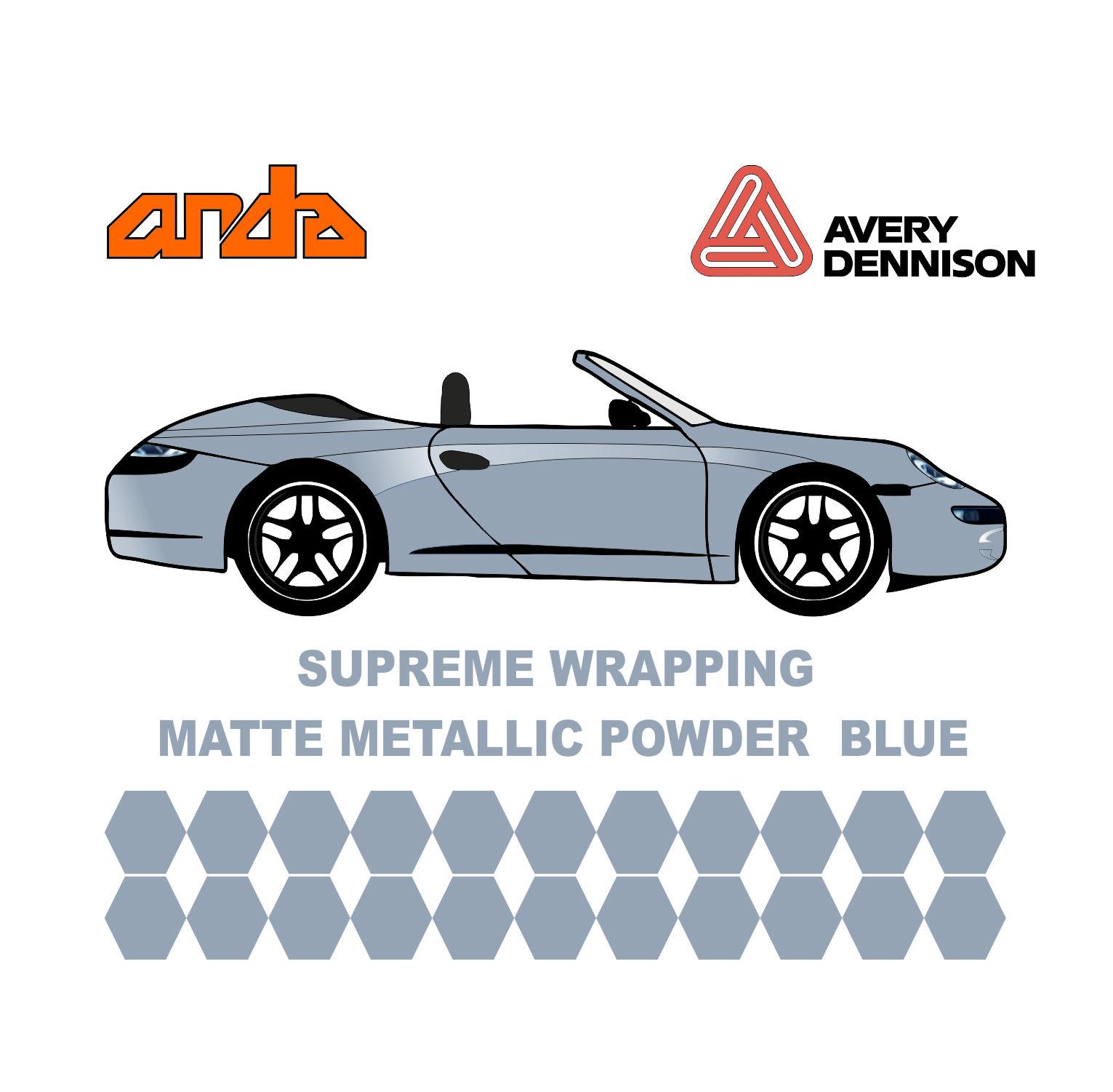 Avery Dennison- SWF Matte Metallic Powder Blue 1