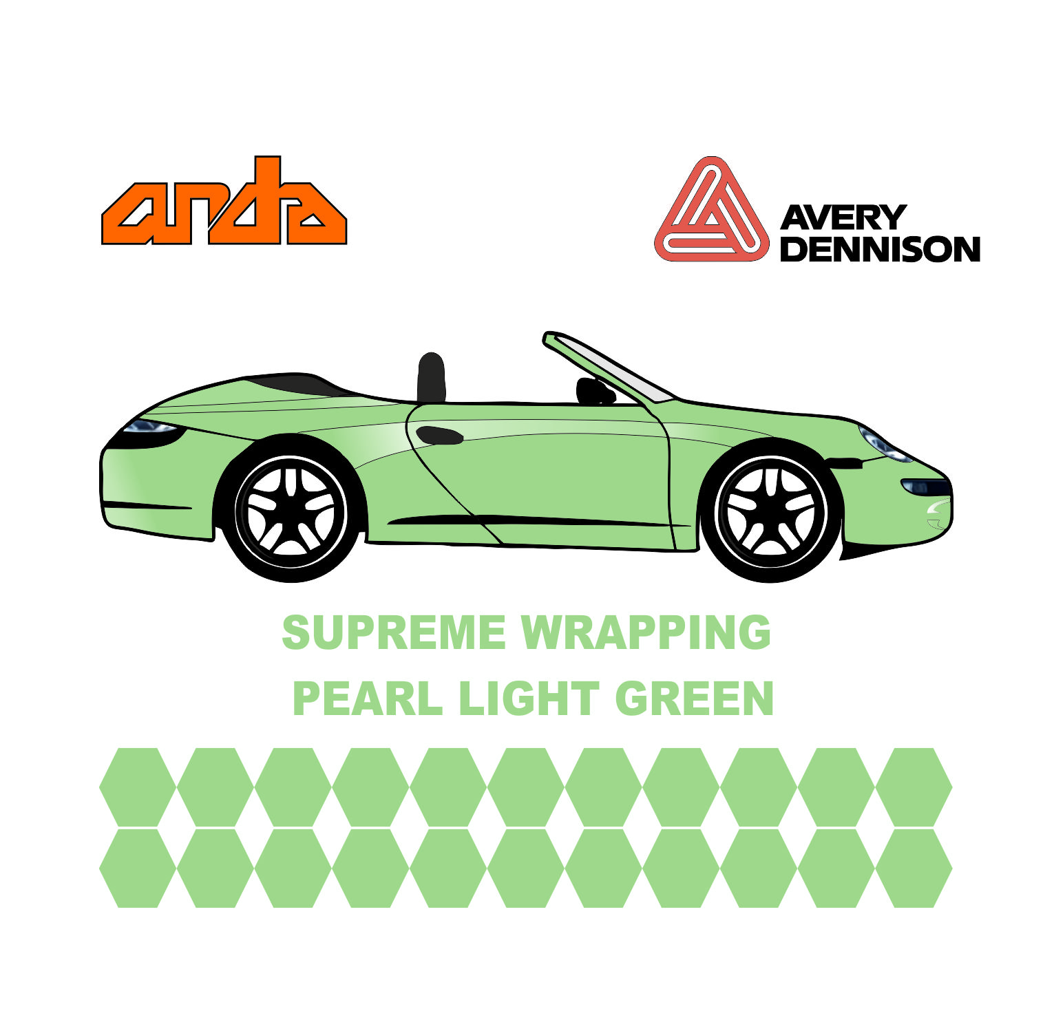 Avery Dennison- SWF Metallic Pearl Light Green 1