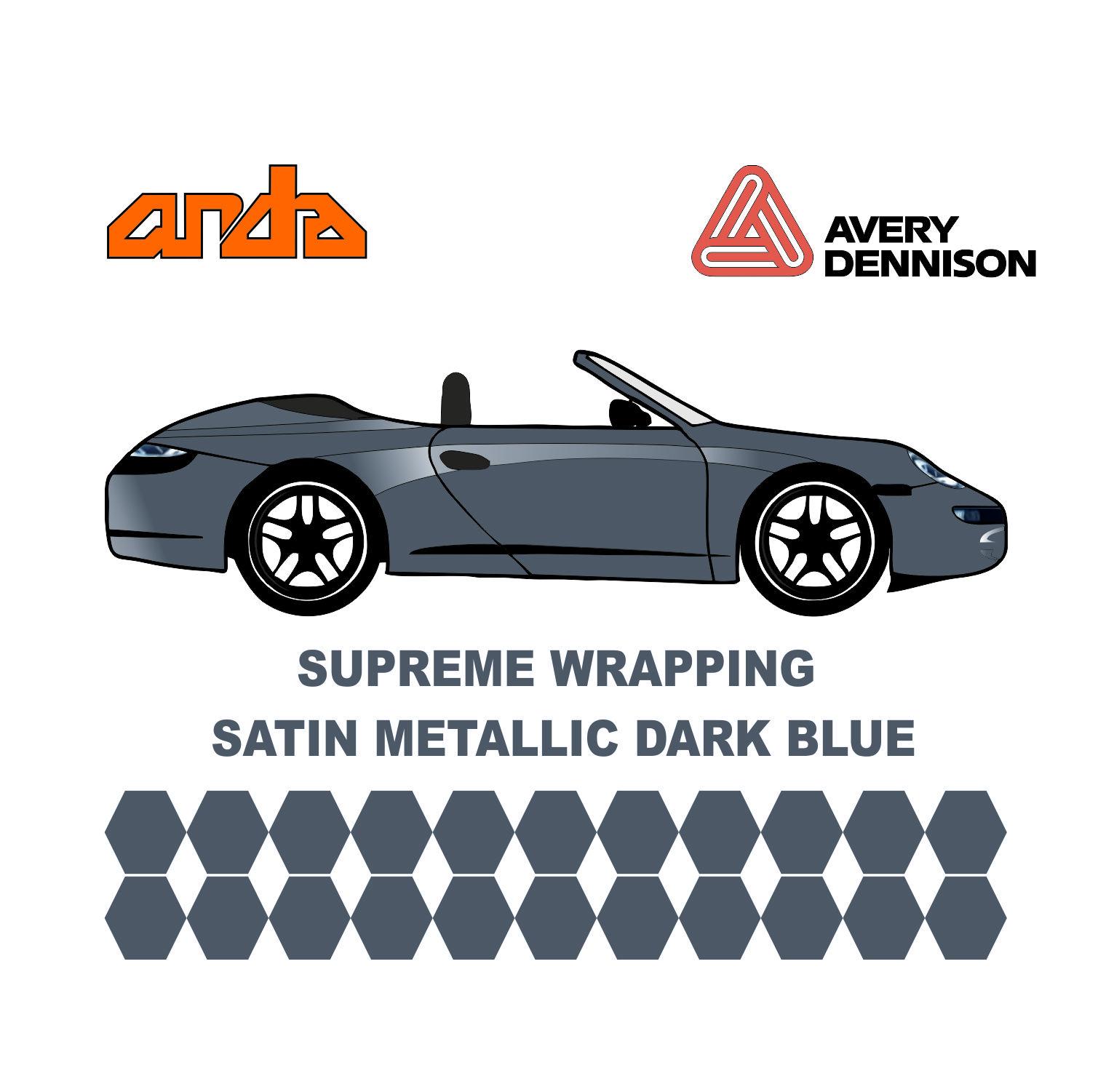 Avery Dennison - SWF Satin Metalik Koyu mavi 1