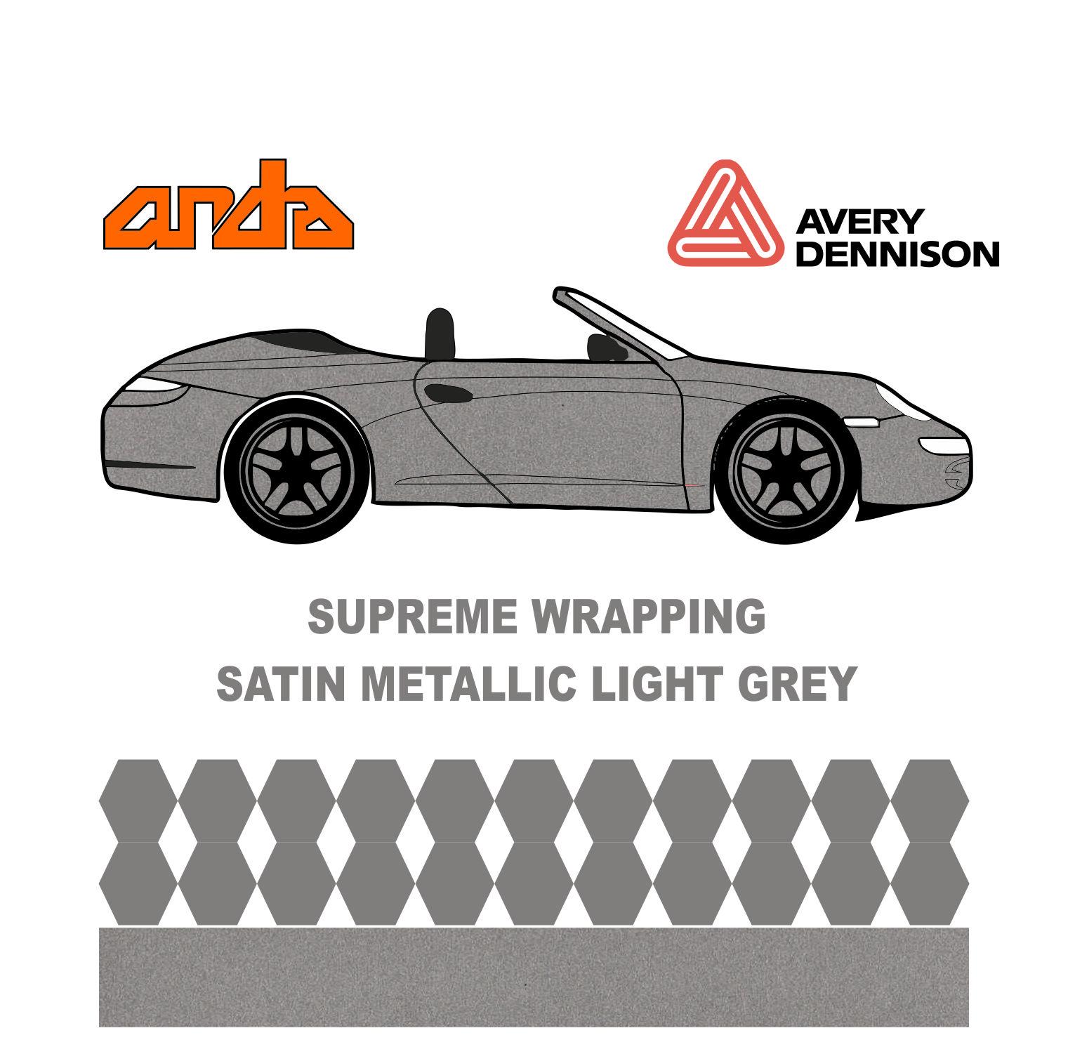 Avery Dennison - SWF Satin Metalik Açık Gri 1